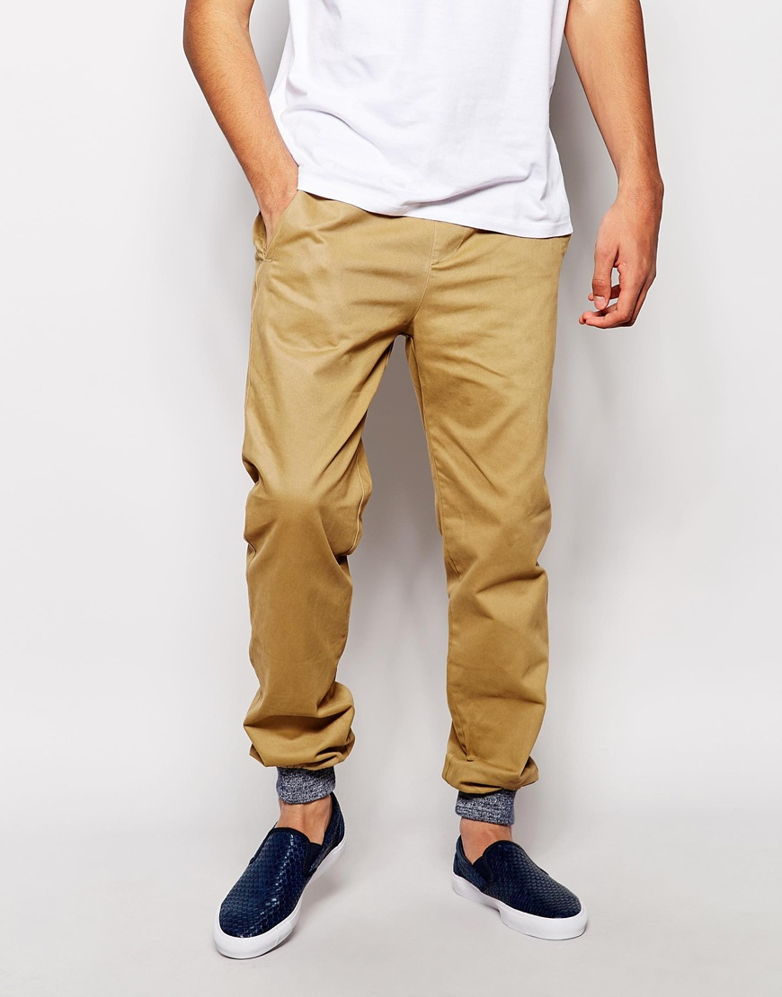 shop for authentic best quality convenience goods Native Youth Natural Chino Jogger With Cuffed Hem for men