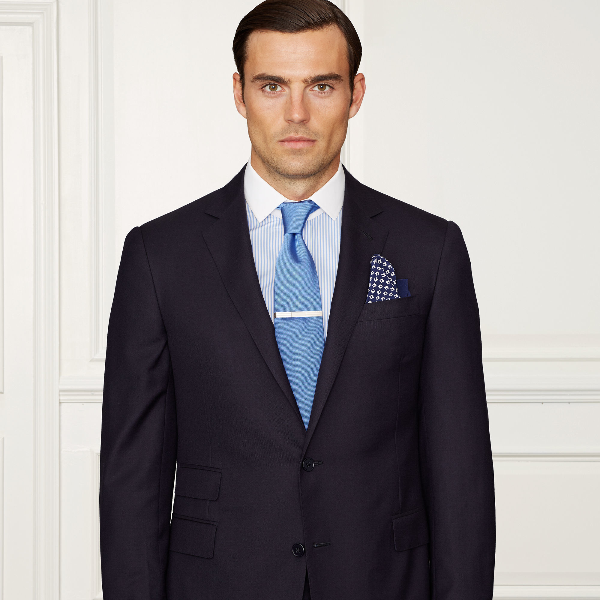 Ralph Lauren Purple Label Drake Wool Twill Suit In Blue