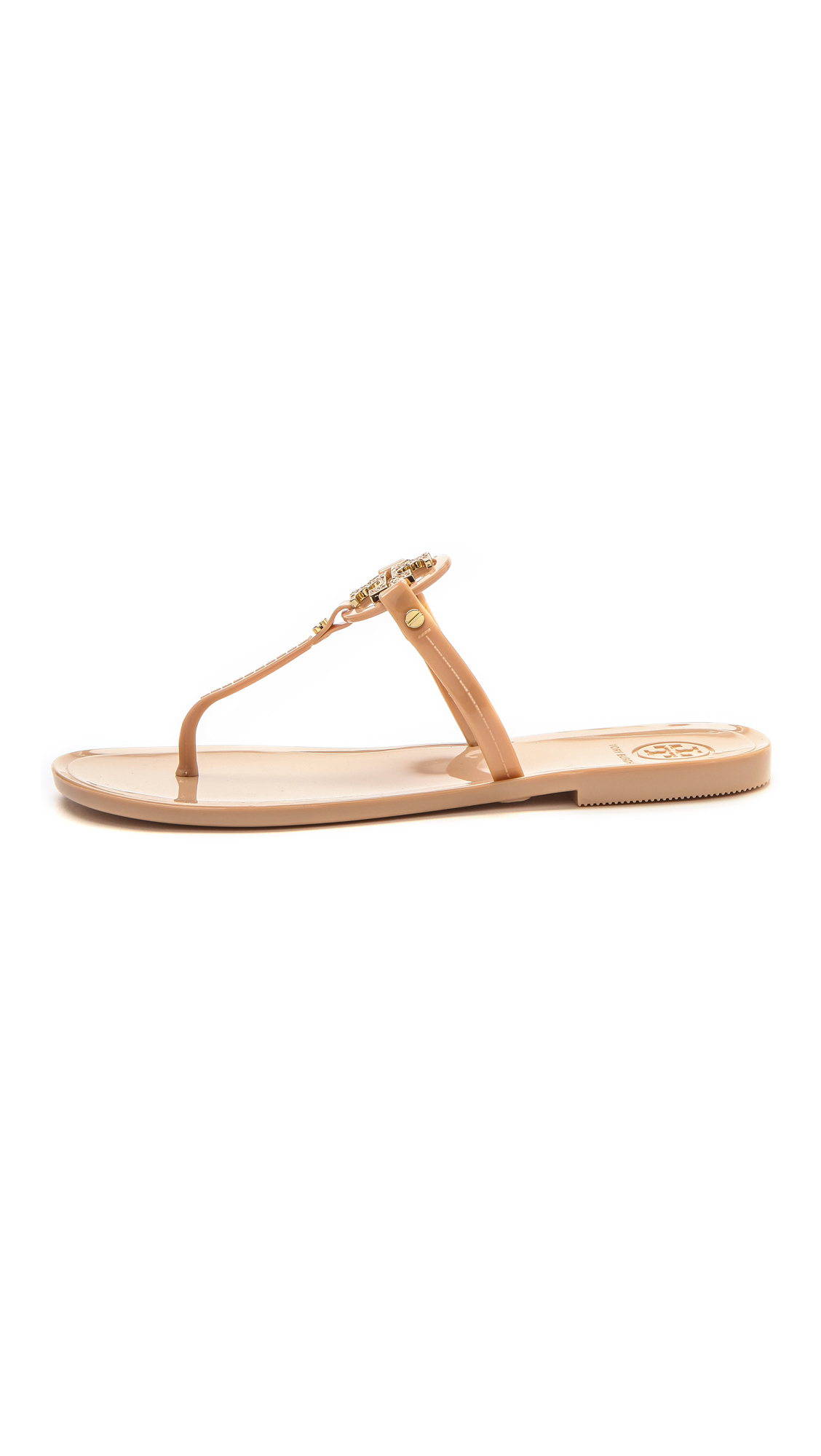 71e374df24d1 Lyst - Tory Burch Mini Miller Flat Thong Sandals - Blush in Pink