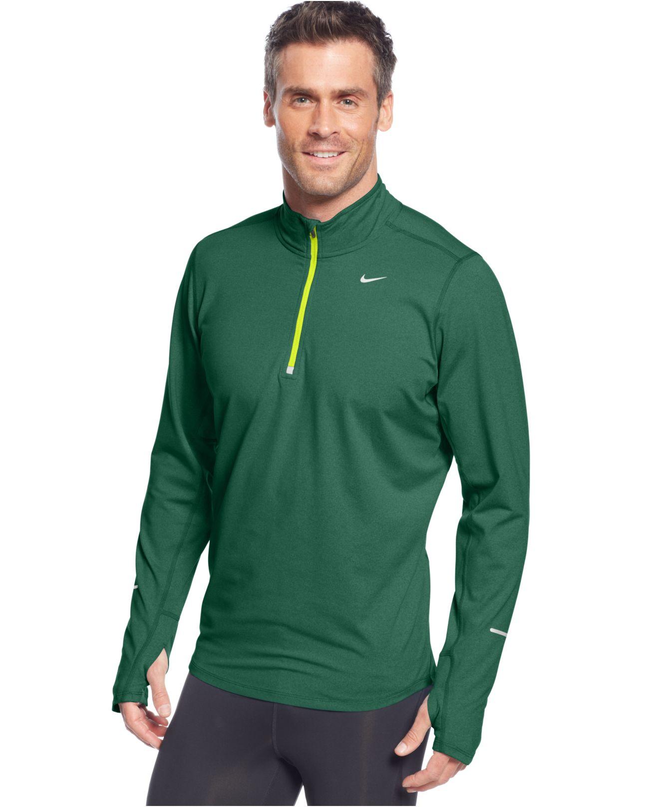 cbdf0047 Nike Pullover Element Half Zip Shirt in Green for Men - Lyst