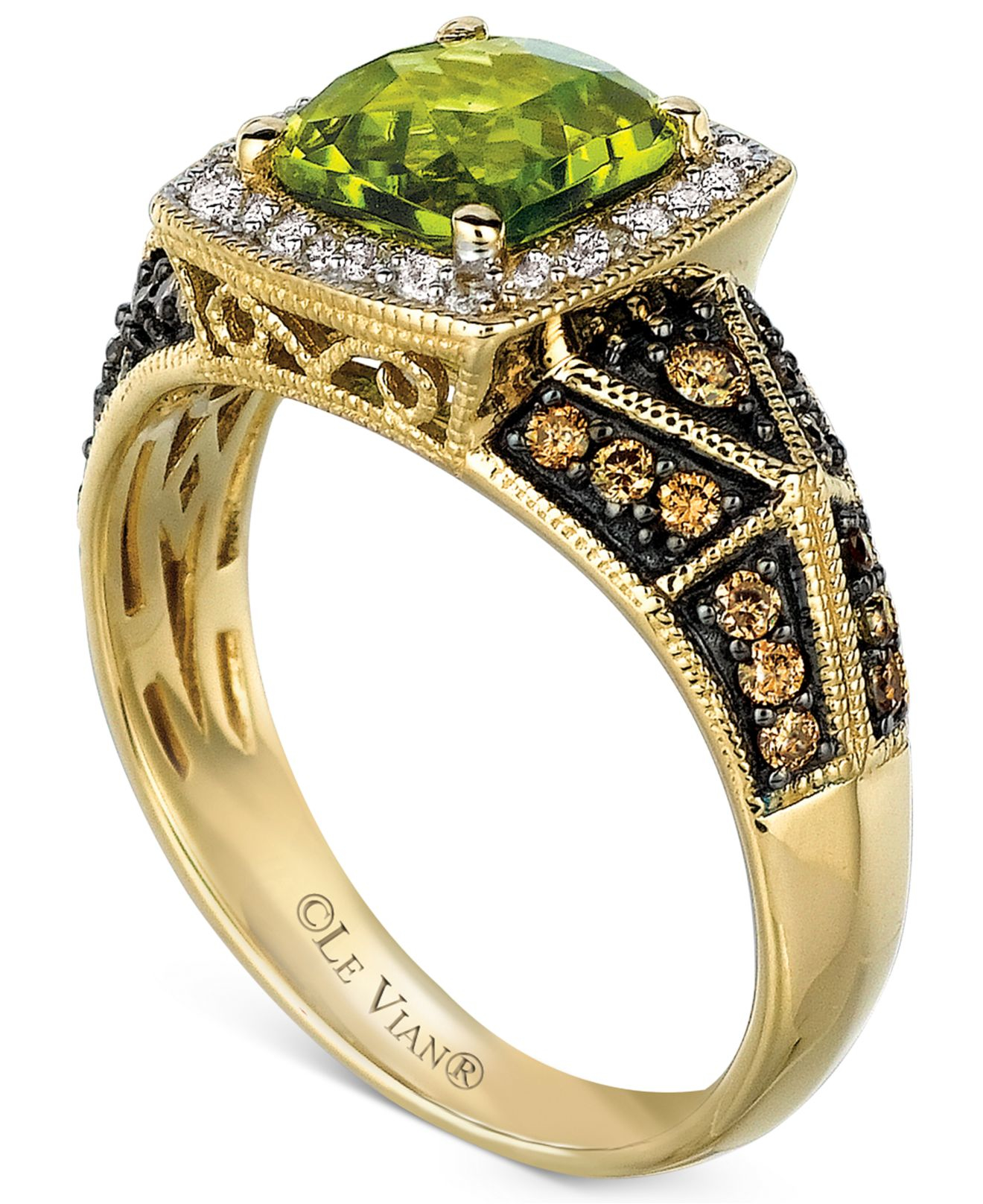 Yellow Gold Chocolate Diamond Ring