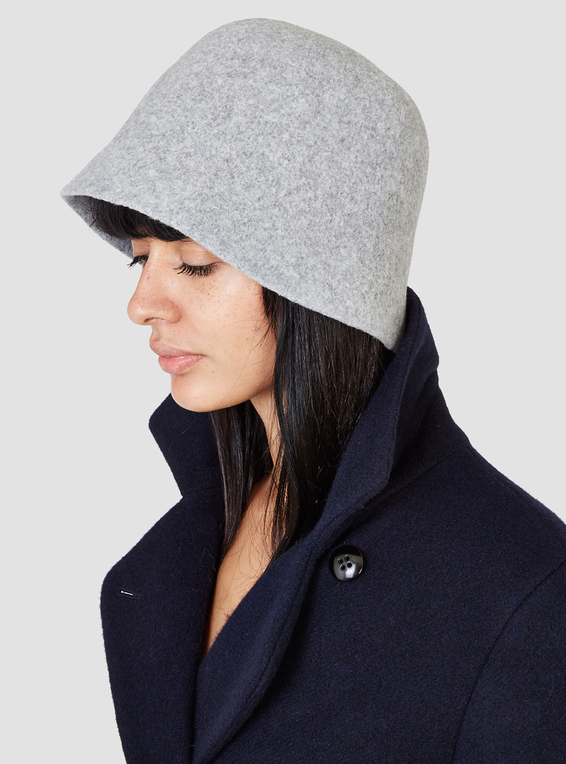 Lyst Mature Ha Bell Hat Grey In Gray
