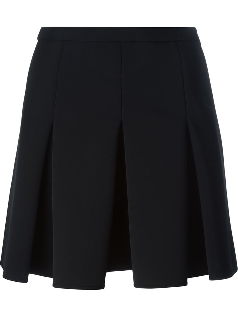 wang box pleat skirt in black save 30 lyst