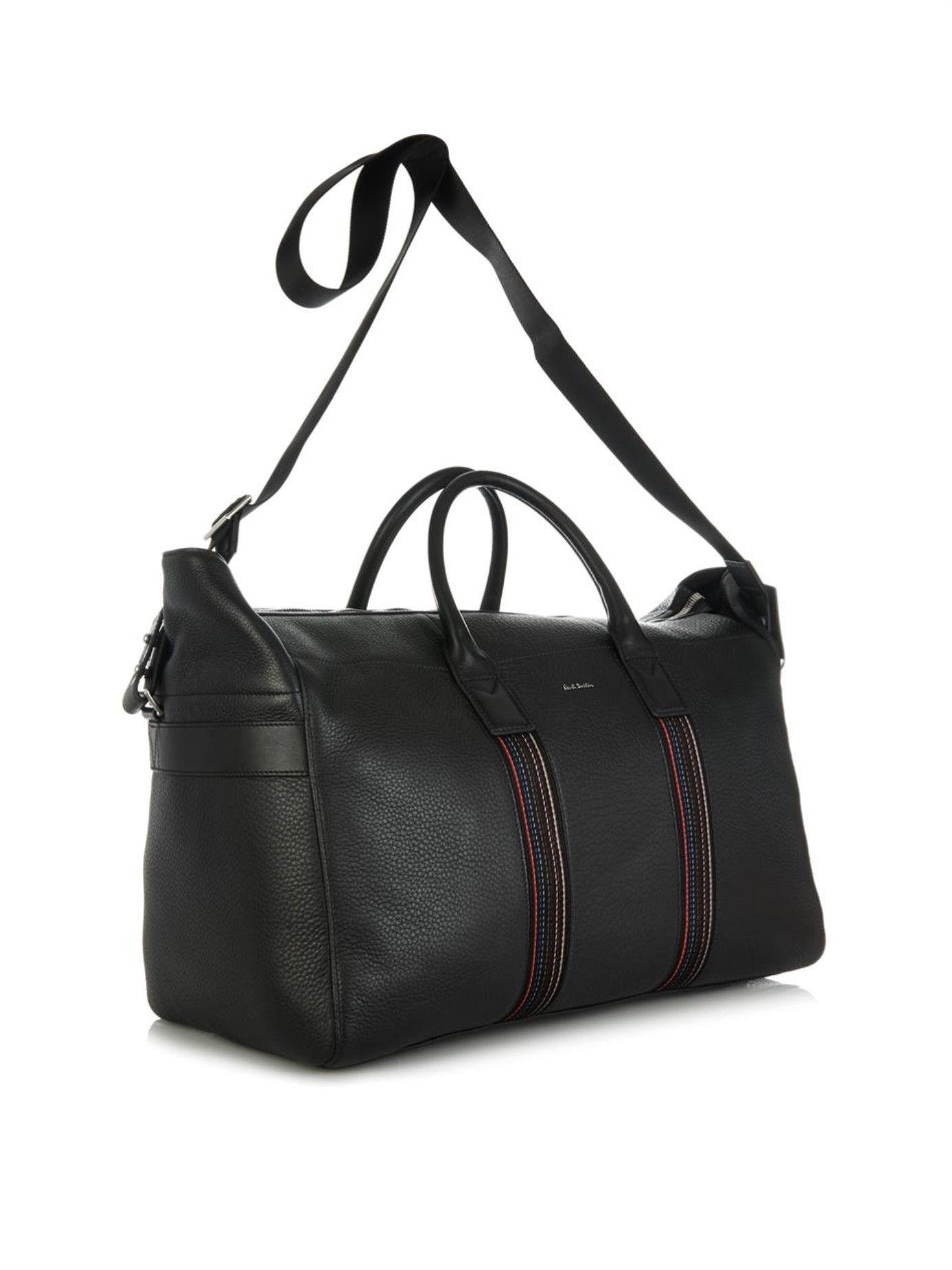 bfc7d5f13 Paul Smith City Webbing Leather Weekend Bag in Black for Men - Lyst