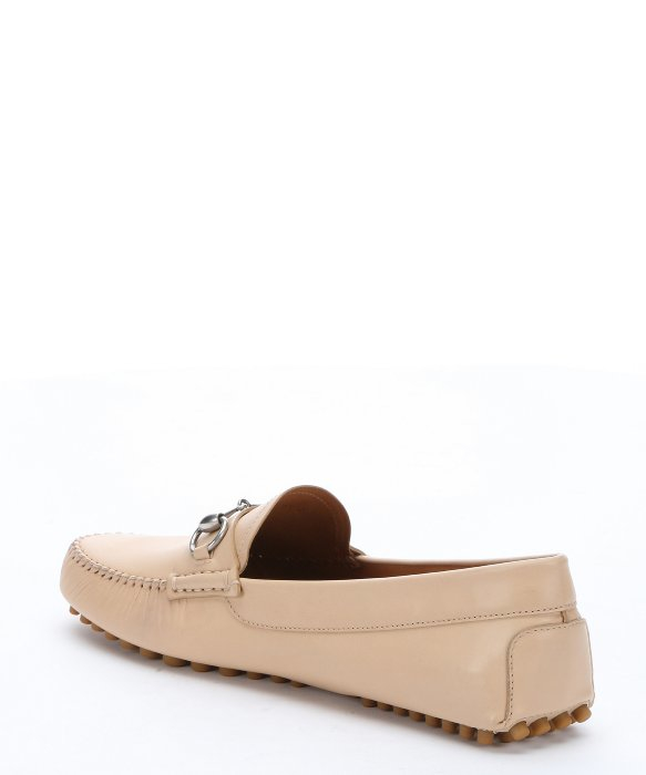 119f171130b Gucci Natural Brown Leather Horsebit Driving Loafers in White for Men