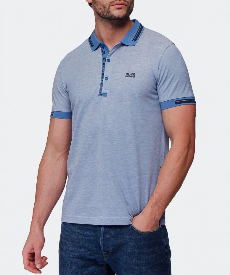d40024dfa BOSS Green Slim Fit Paule4 Polo Shirt in Blue for Men - Lyst
