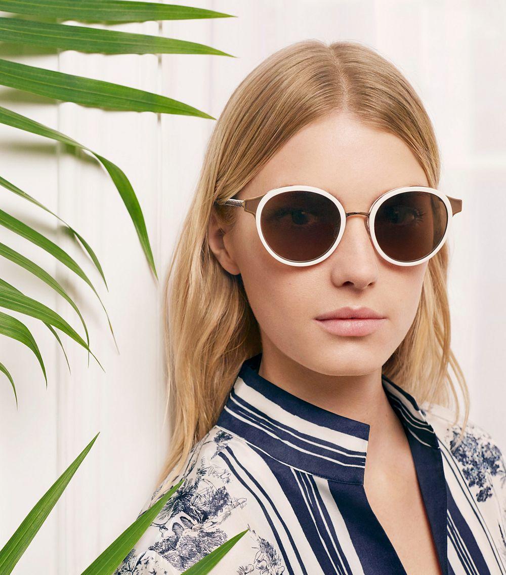 13f1b7b8e76 Lyst - Tory Burch Marais Sunglasses in Pink