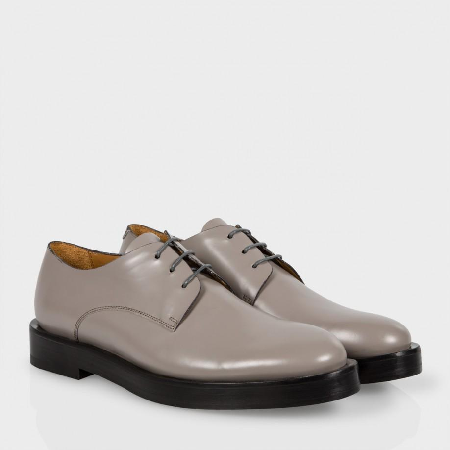 paul smith s grey leather albany shoes in gray lyst