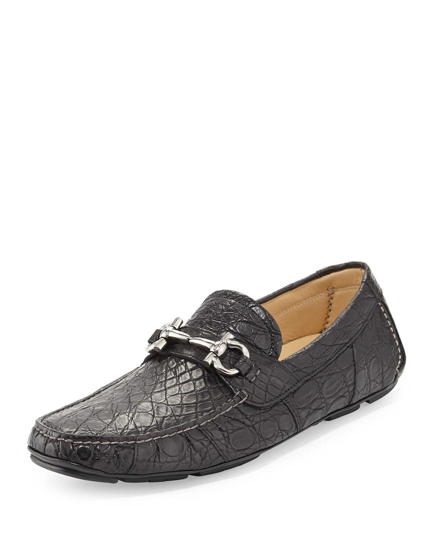 Ferragamo Mens Crocodile Shoes