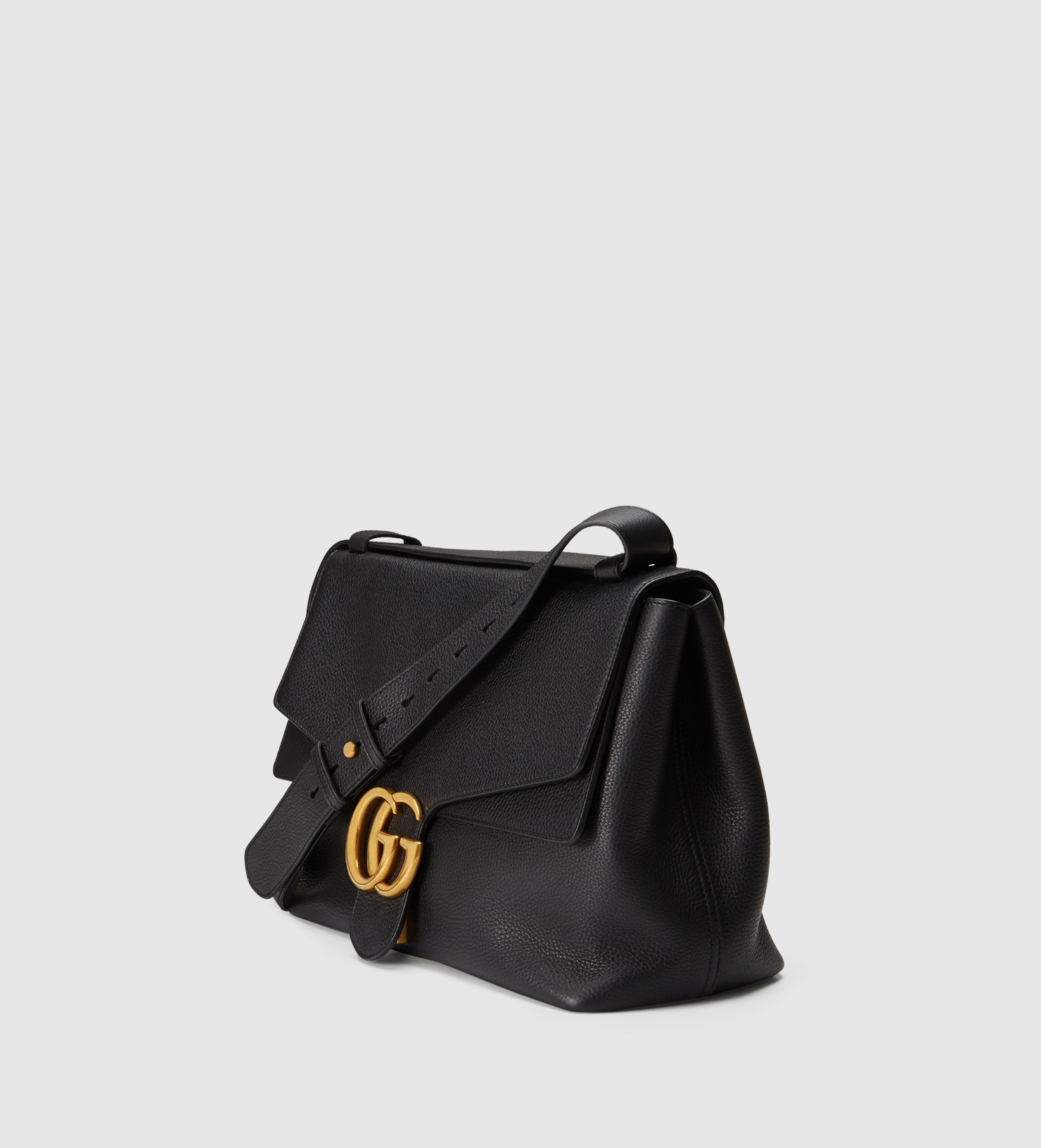 fc779beb6ab Lyst - Gucci Gg Marmont Leather Shoulder Bag in Black