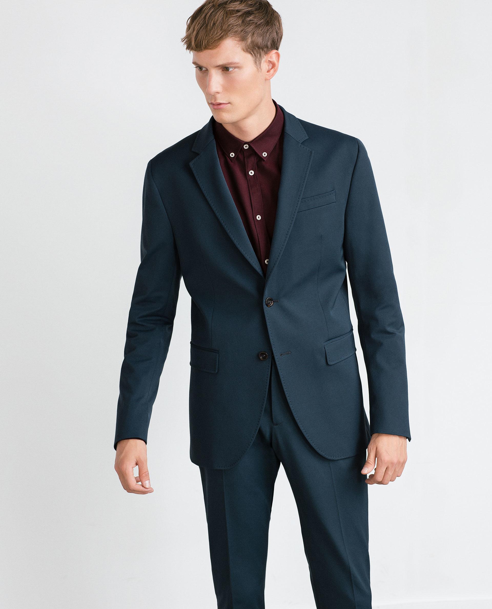 Zara Suit Blazer in Blue for Men | Lyst