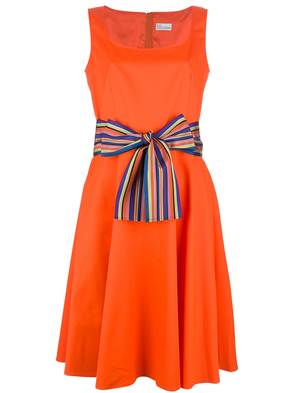 lyst red valentino bow belted dress in orange