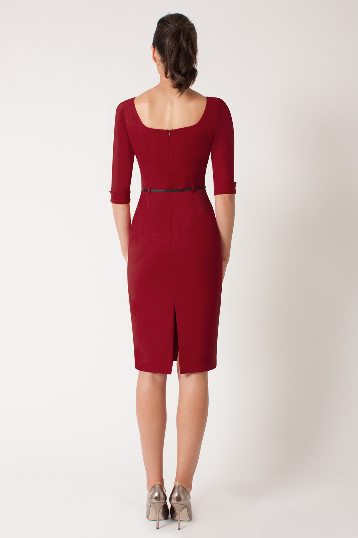Black halo 3/4 Sleeve Jackie O in Red | Lyst