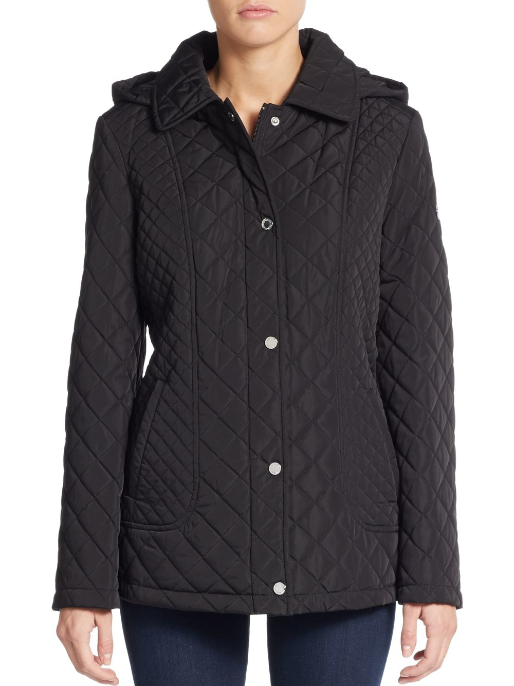 Calvin Klein Quilted Hooded Jacket In Black Lyst