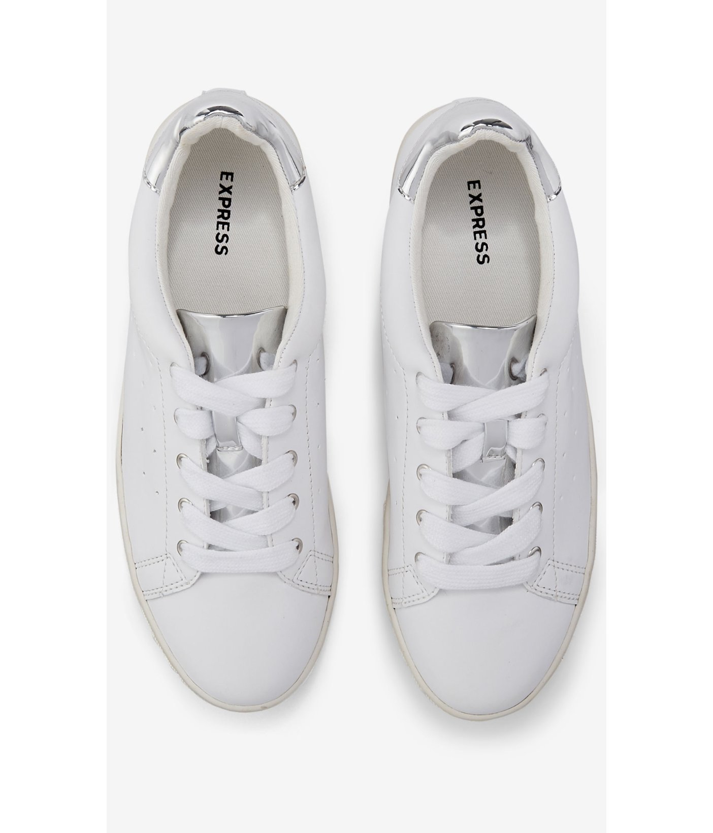 Non Skid Faux White Leather Shoes