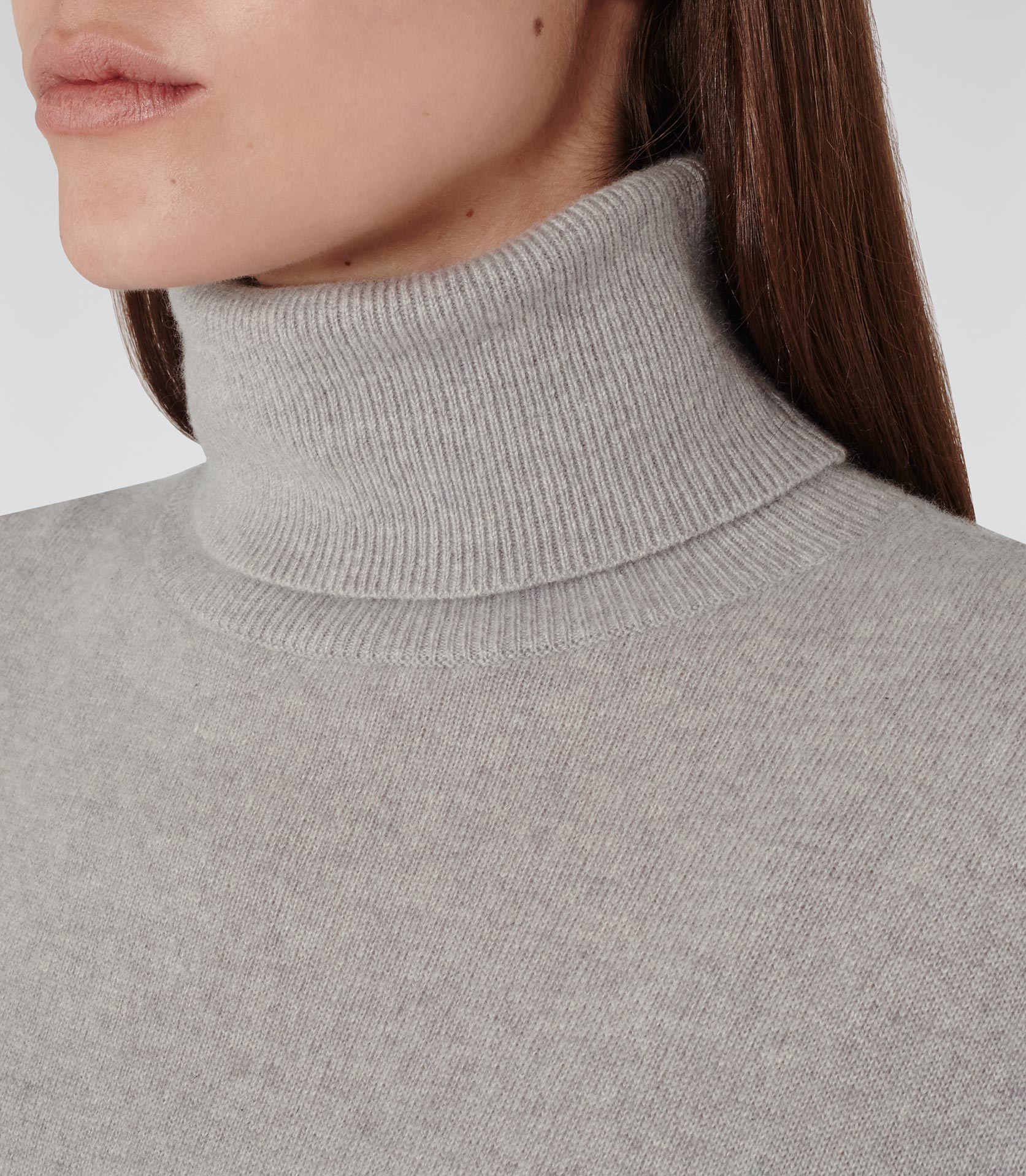 f5d6c5ae2 Reiss Zoya Cashmere Roll-neck Jumper in Gray - Lyst