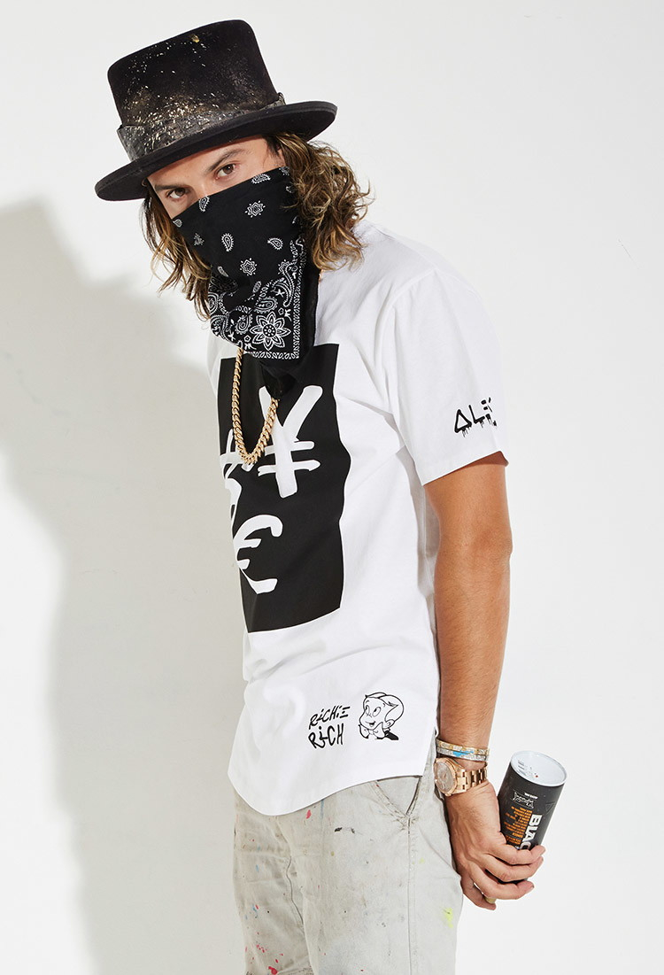 forever 21 alec monopoly x forever 21 currency graphic tee