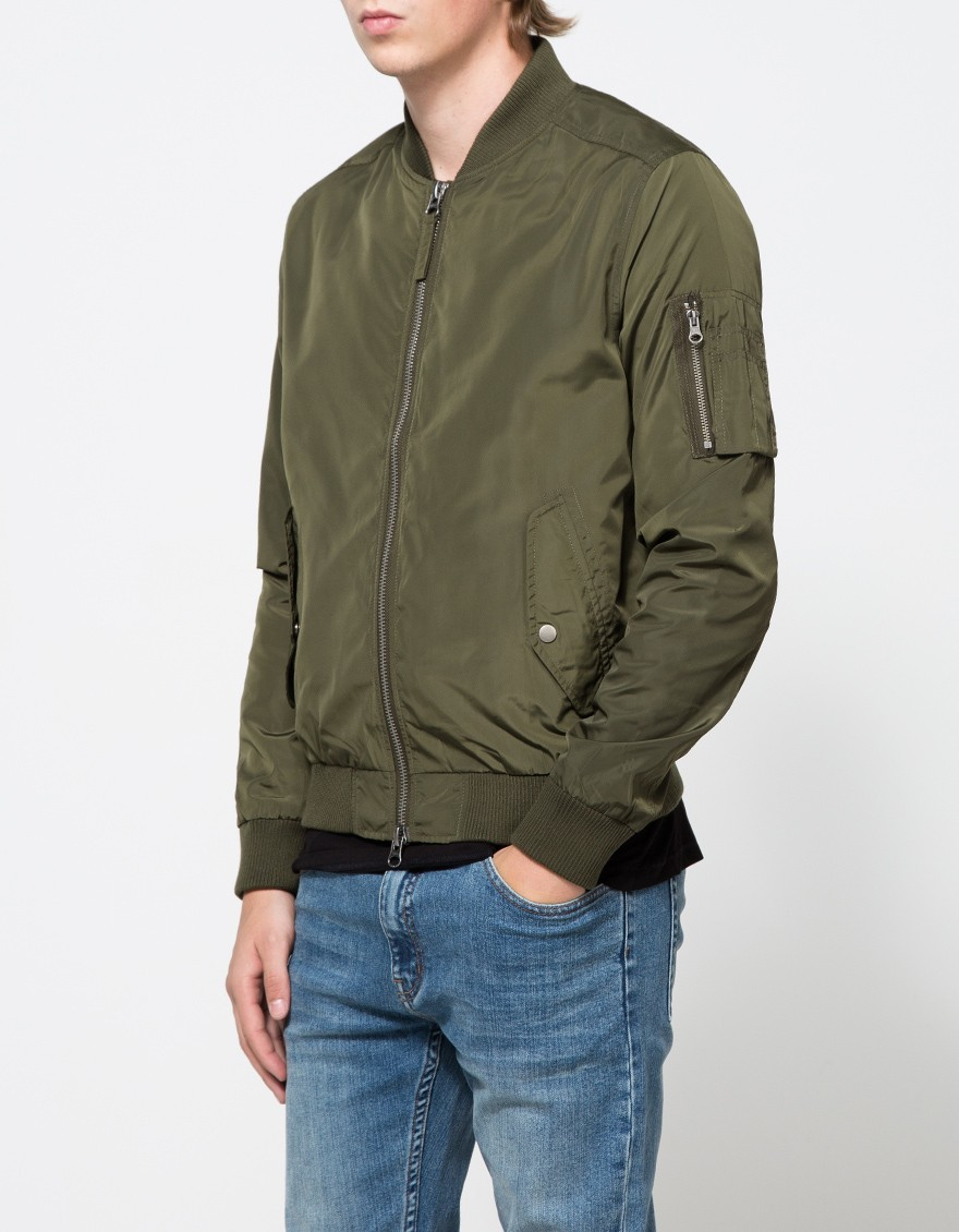 Lyst Topman Ma1 Bomber Jacket In Green For Men