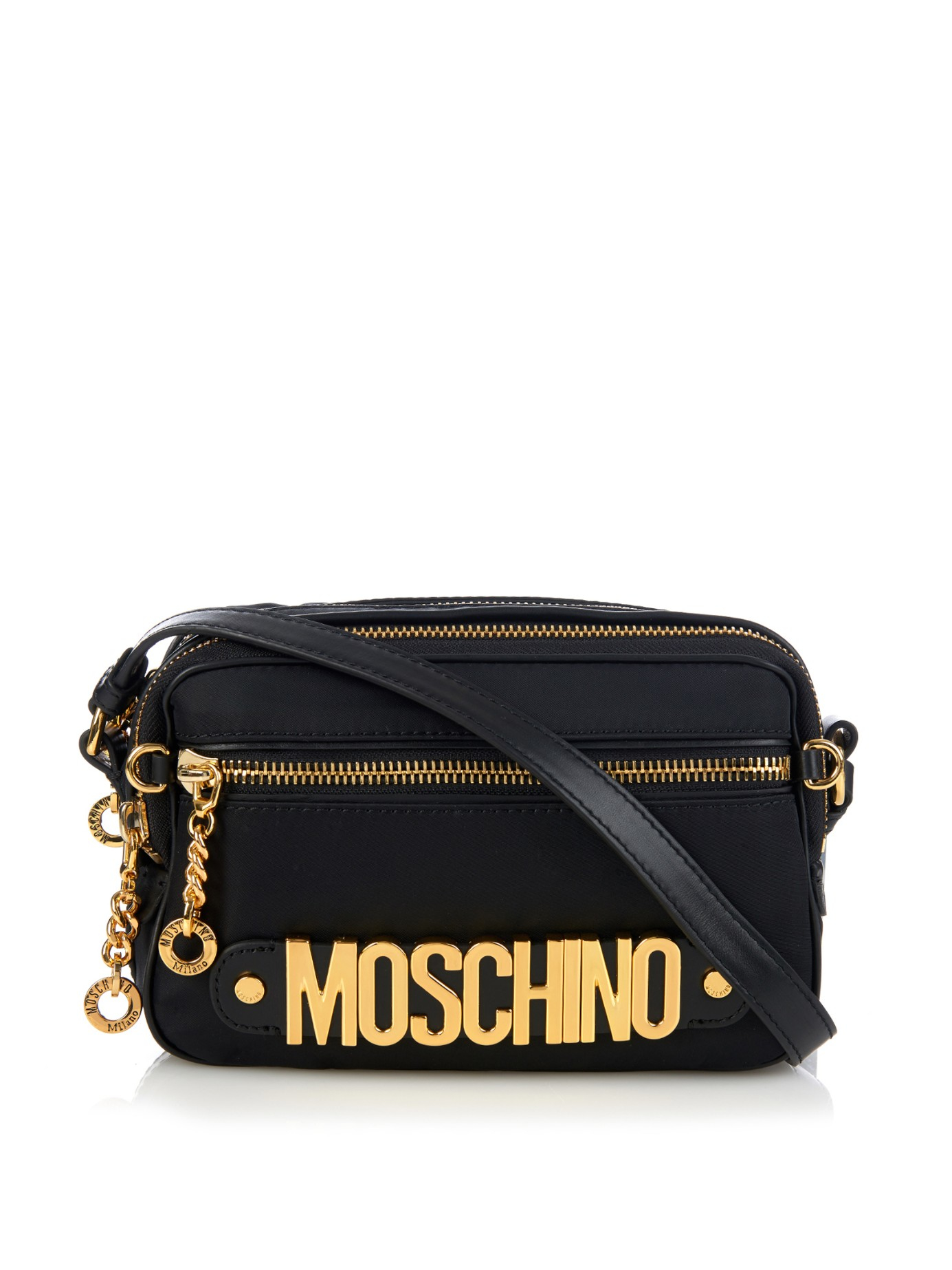 244e0d55366 Moschino Lettering Cross-Body Bag in Black - Lyst