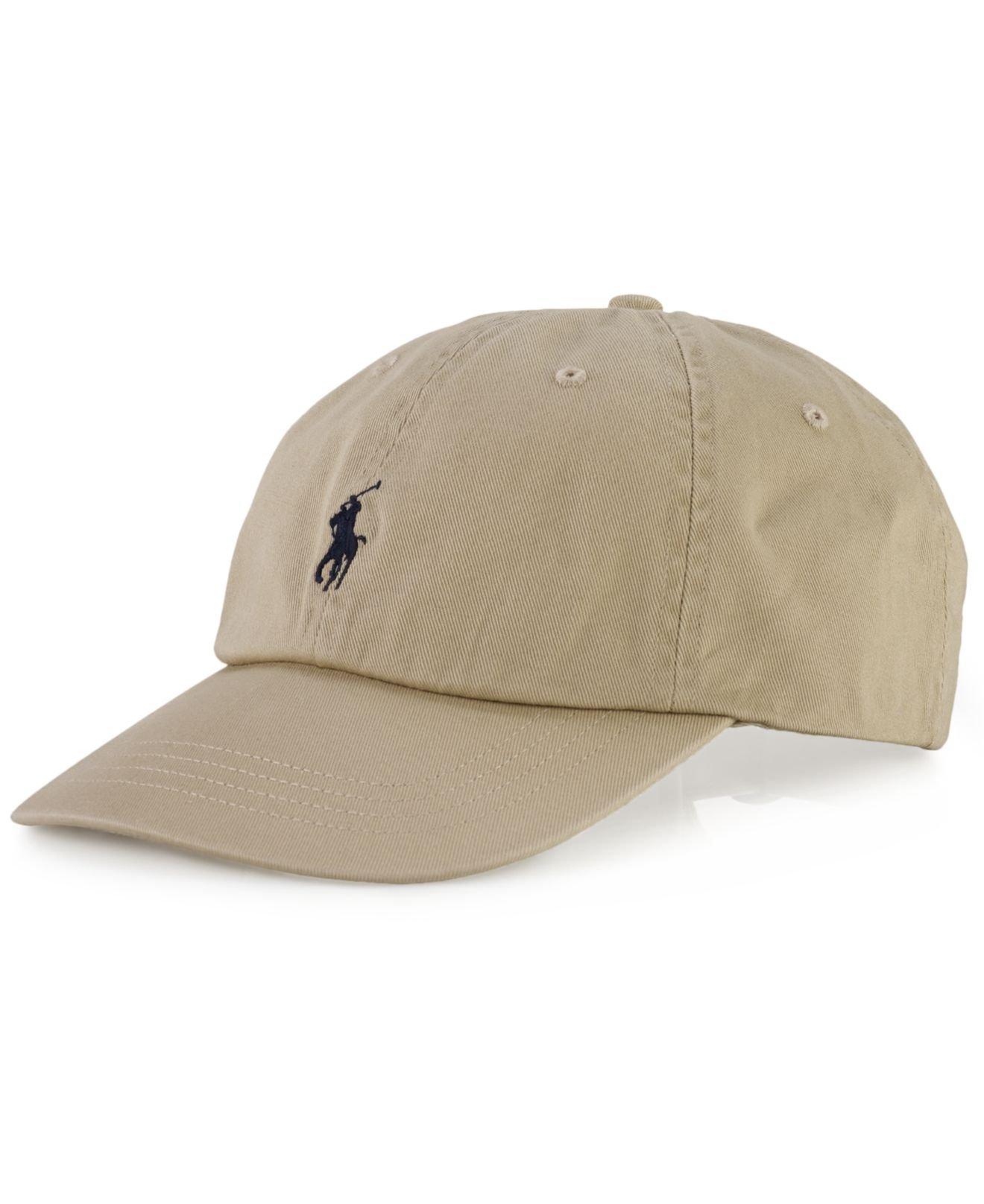 polo ralph lauren core classic sport cap in beige for men nubuck. Black Bedroom Furniture Sets. Home Design Ideas