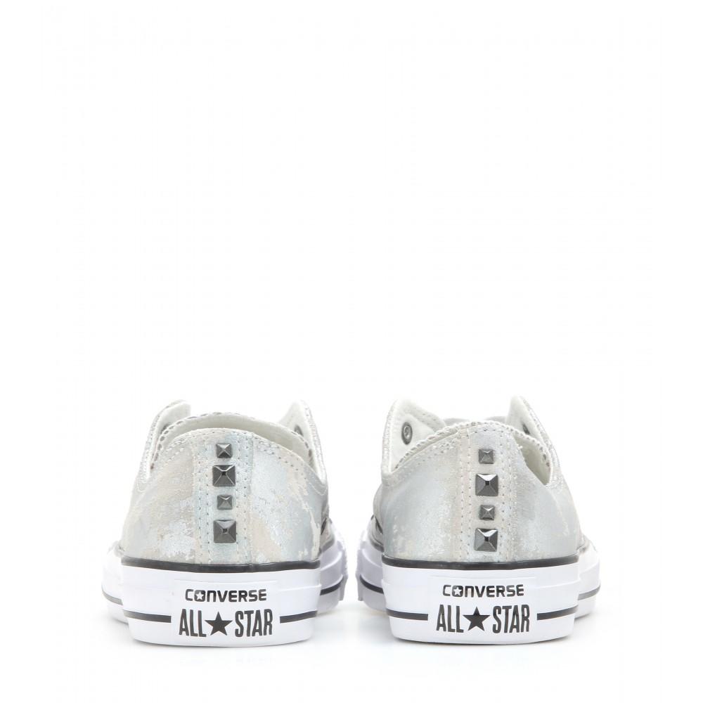 57e23e35b5 Converse Chuck Taylor All Star Metallic Suede Sneakers in Metallic - Lyst