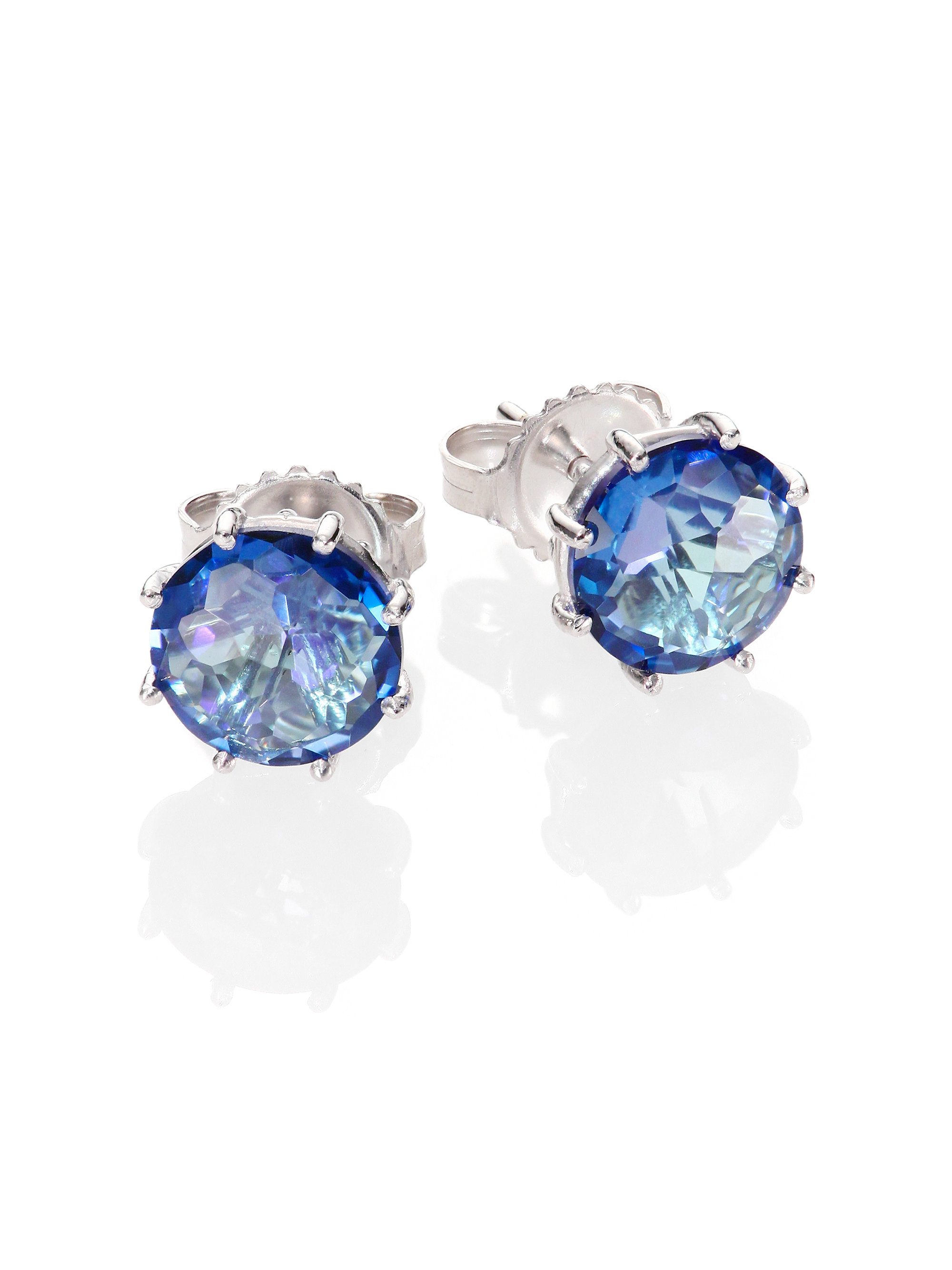 kalan earrings english gallery lyst diamond round blue gold topaz white jewelry stud suzanne normal product by
