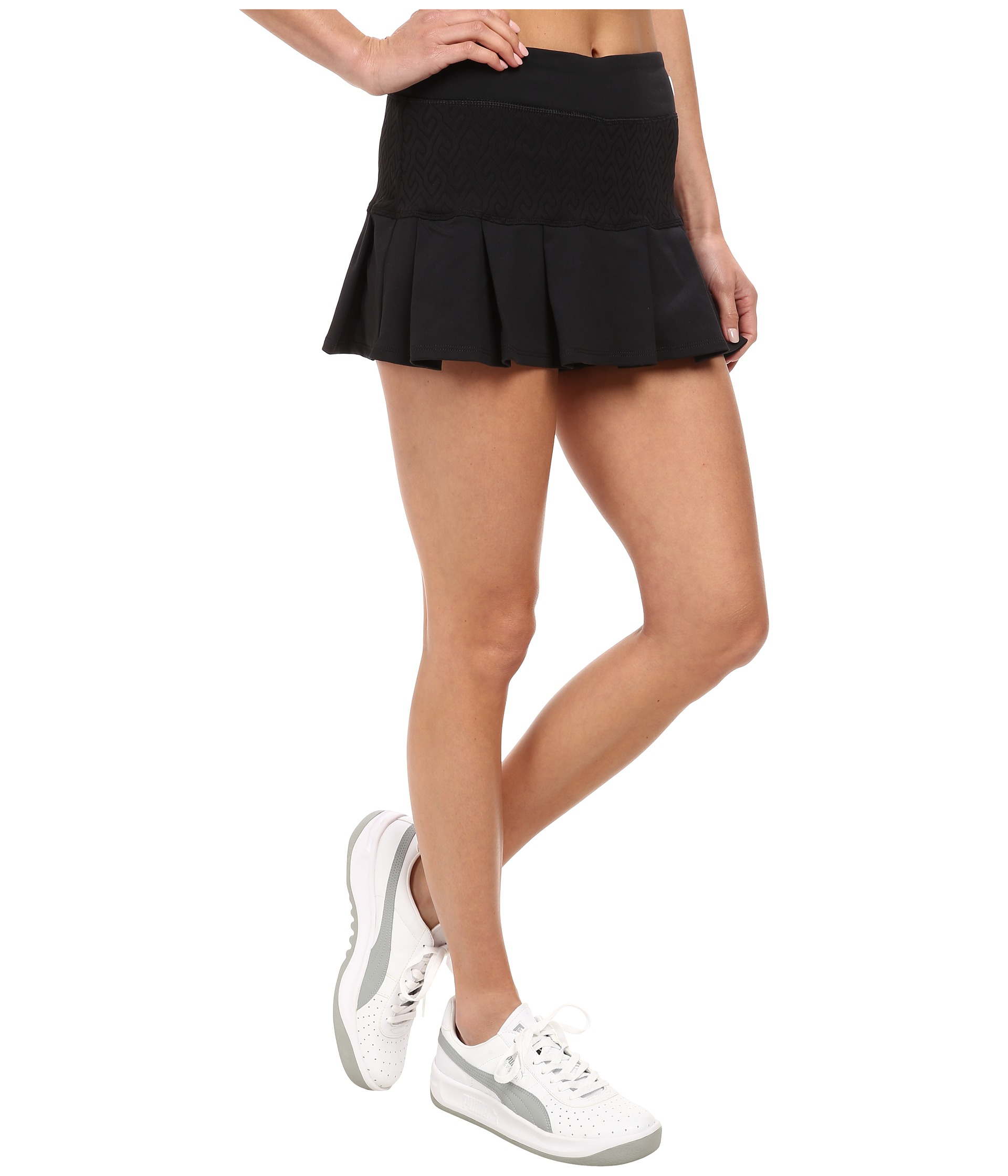 c82b50ad0f6 Lyst - Trina Turk Racquet Club Jacquard Tennis Skirt in Black