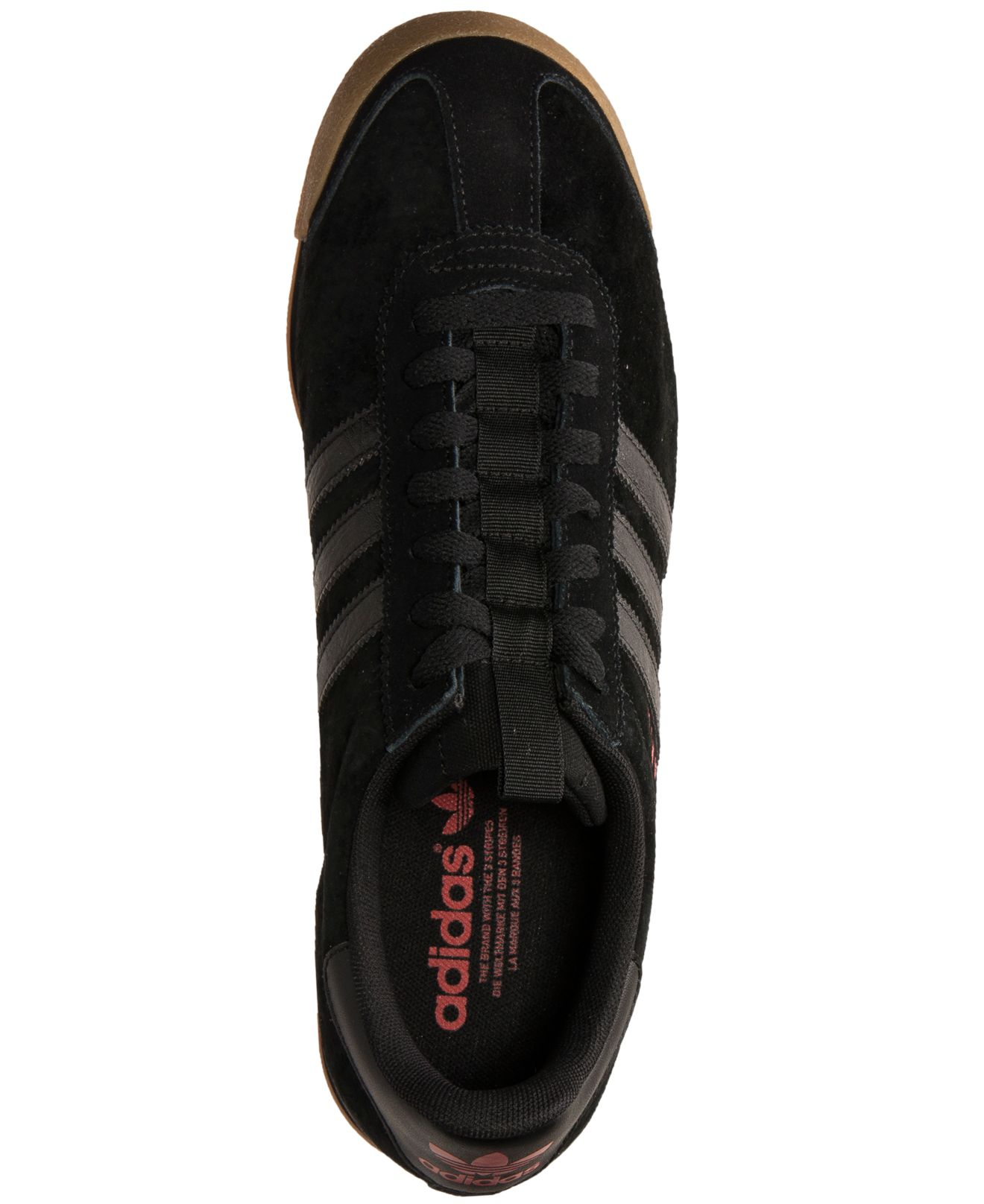 new arrival 689eb 80823 Lyst - adidas Men S Samoa Casual Sneakers From Finish Line in Black ...