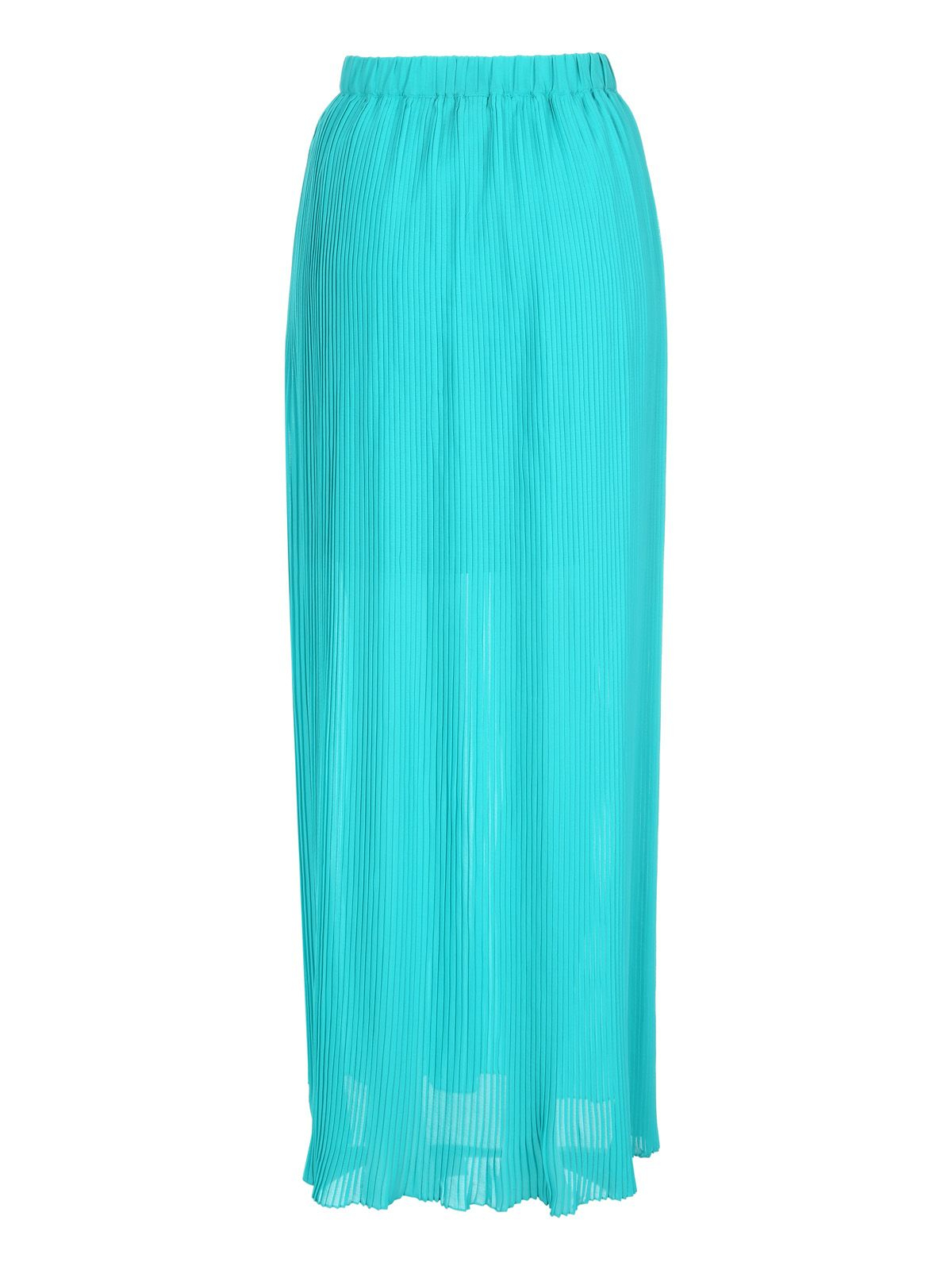 norman pleated maxi skirt in green lyst