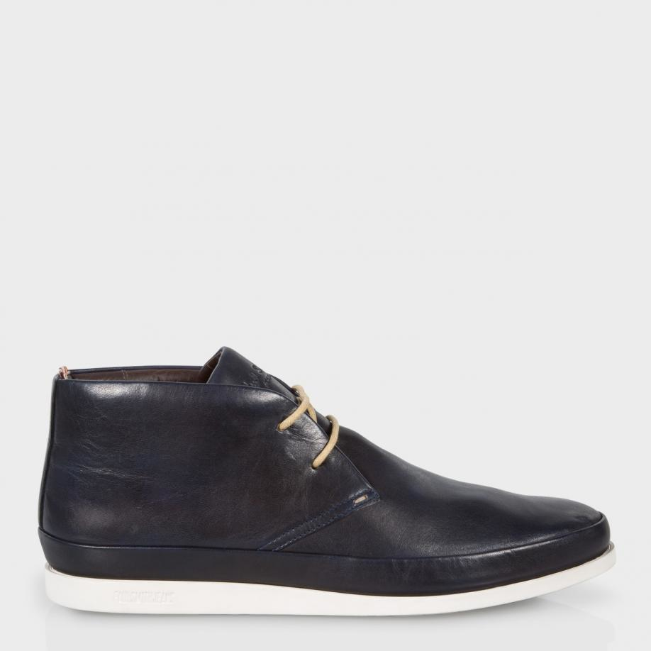 Paul smith Loomis Leather Chukka Boots in Blue for Men | Lyst