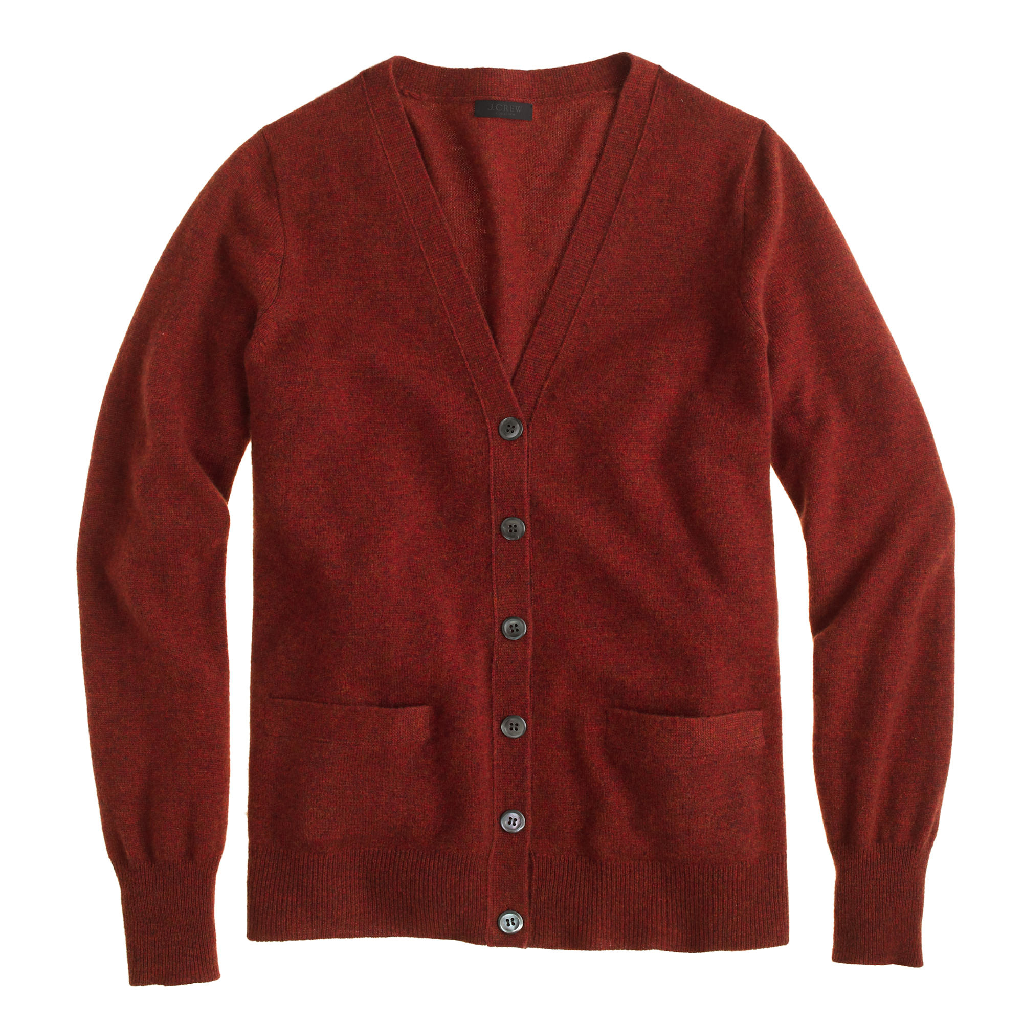 J.crew Collection Cashmere Boyfriend Cardigan Sweater in Red | Lyst