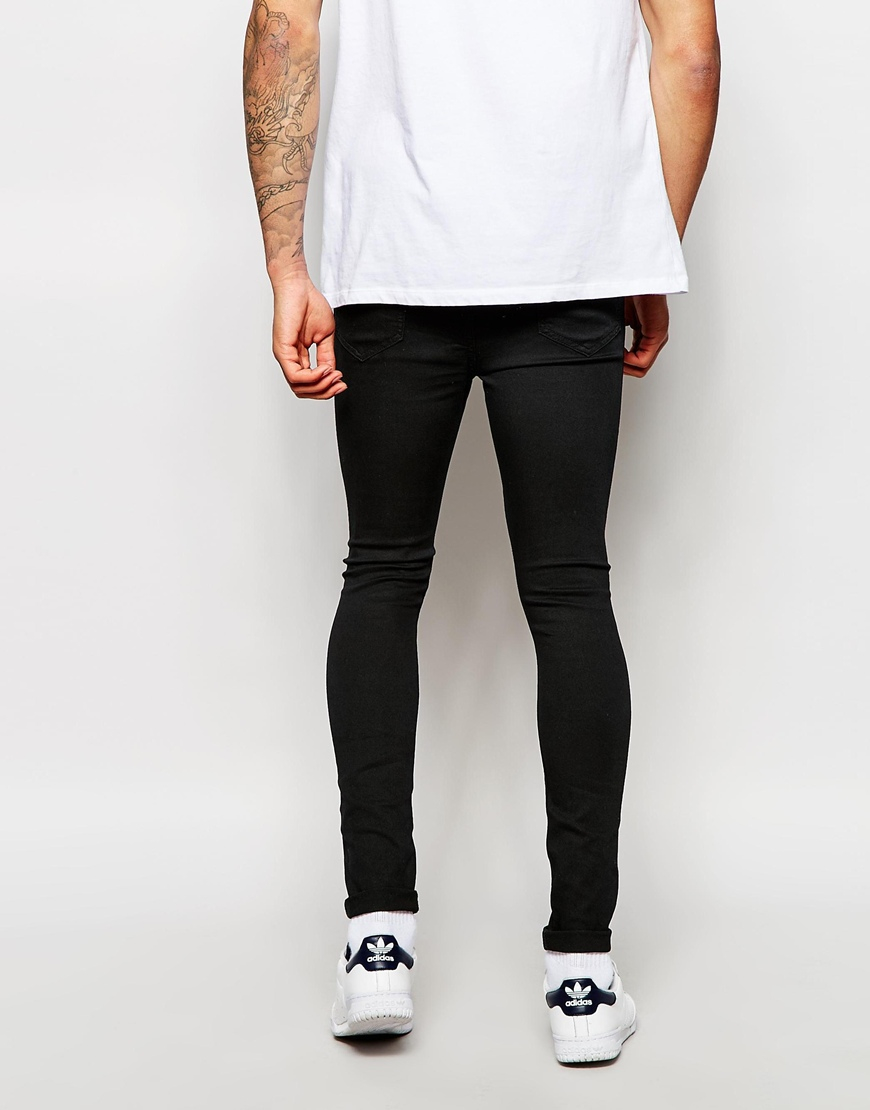 Native youth Spray On Skinny Stretch Jeans in Black for Men  Lyst