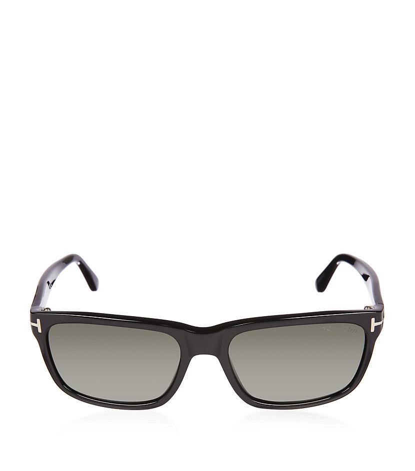 c2a544de6aa8 Tom Ford Hugh Polarized Square Wayfarer Sunglasses in Green for Men ...