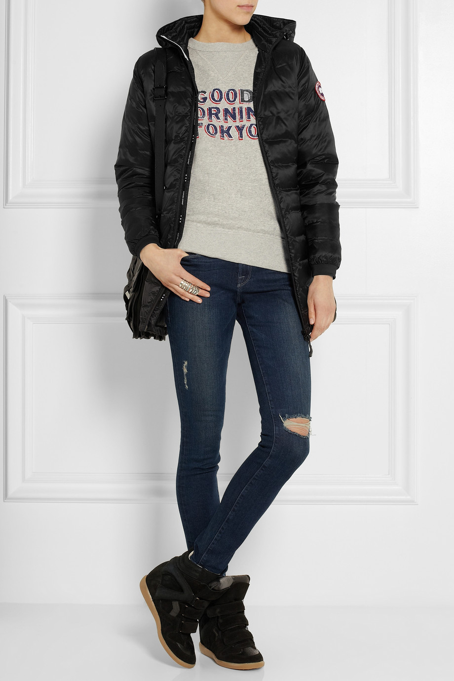 ... switzerland gallery. previously sold at net a porter womens quilted  coats womens canada goose camp 92e5f5a40c