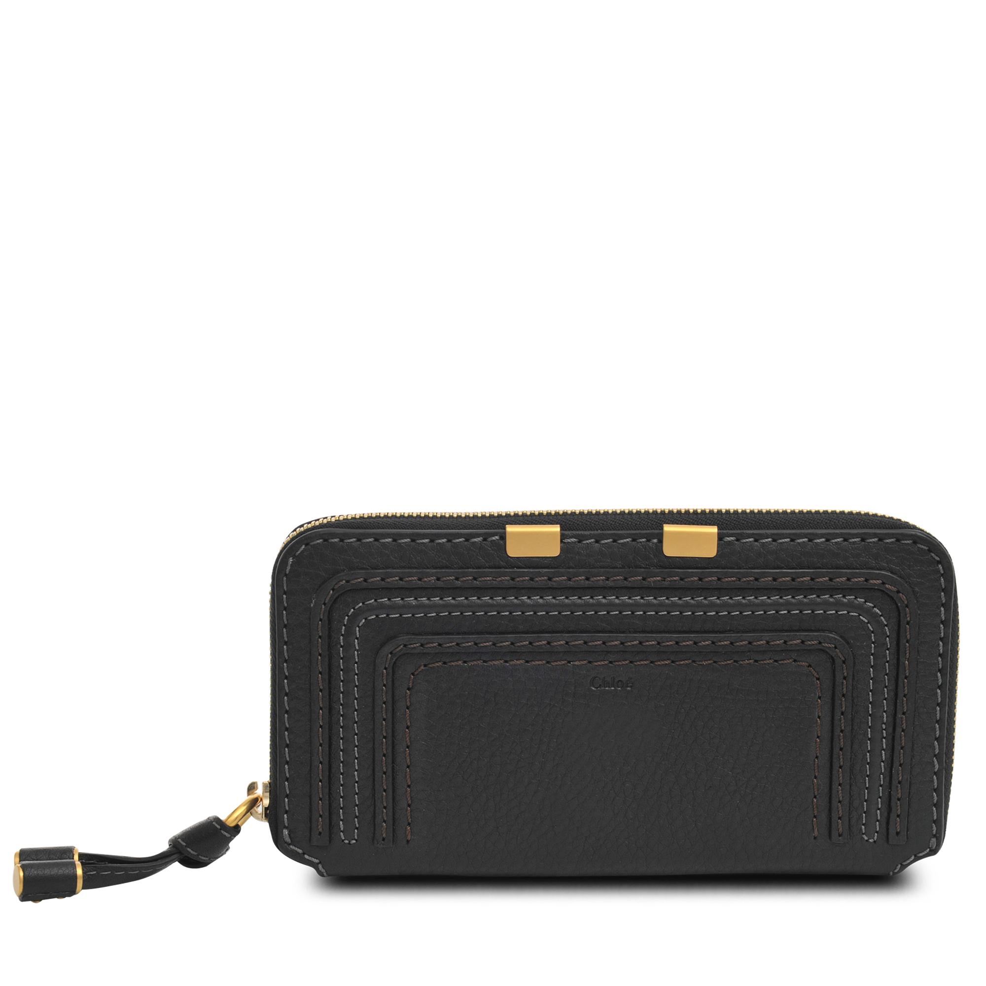 Chlo 233 Marcie Zipped Wallet In Black Lyst