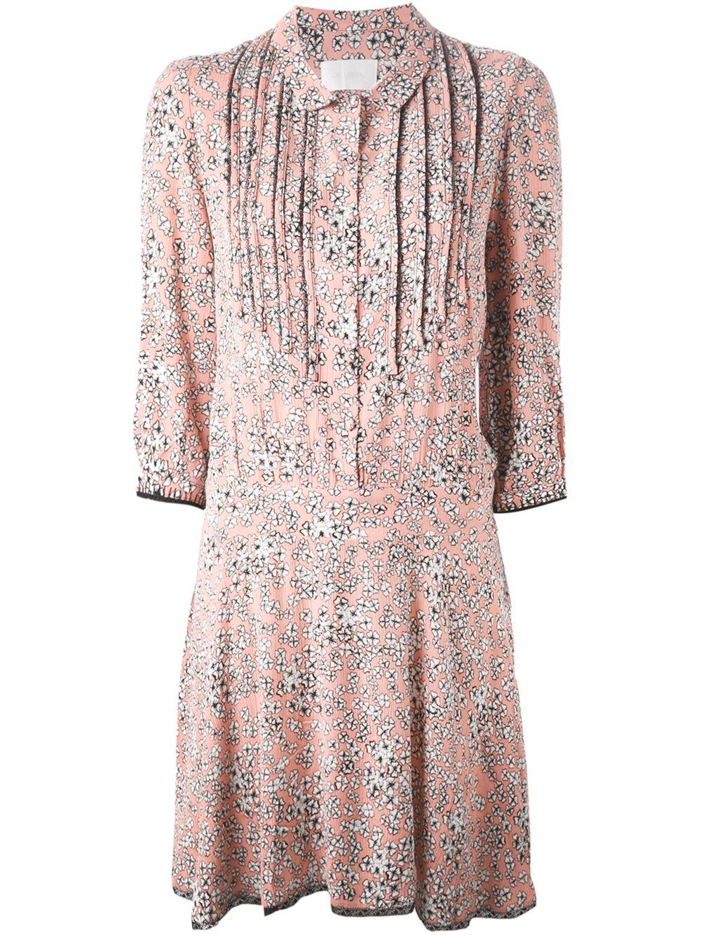 Lyst Zadig Amp Voltaire Raspail Print Dress