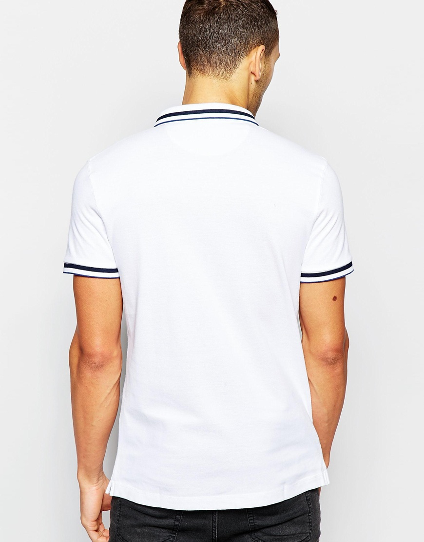 ce62f63e DKNY Polo Shirt Fabric Collar in White for Men - Lyst