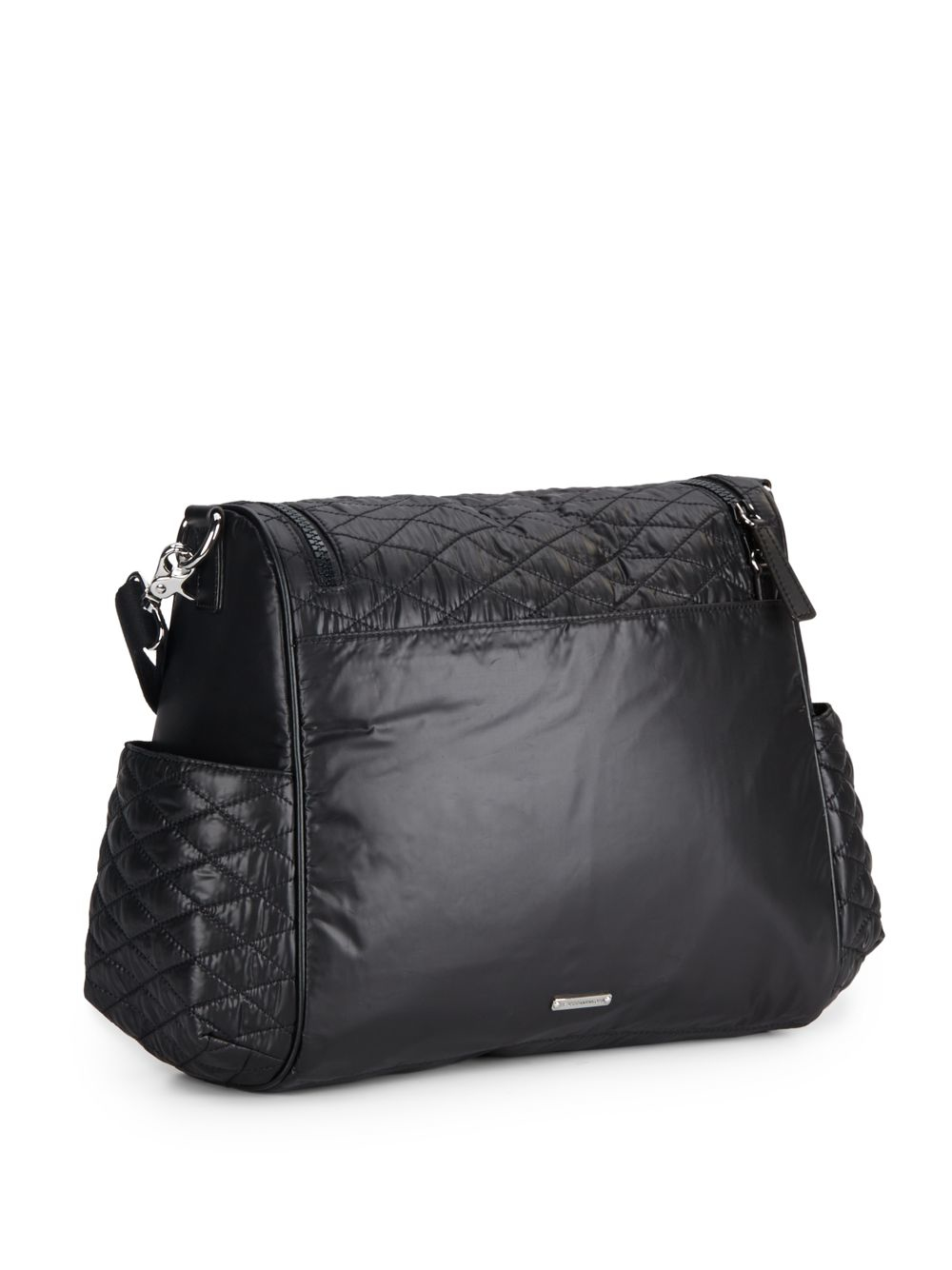 Lyst - Rebecca minkoff Jude Quilted Diaper Bag in Black : black quilted diaper bag - Adamdwight.com