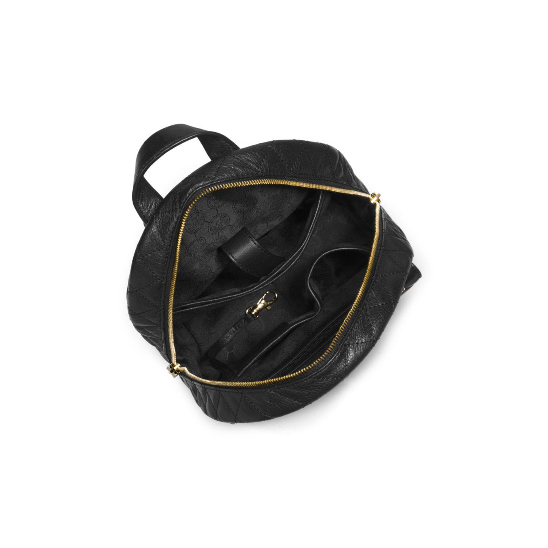 eea3bff12328b ... where to buy lyst michael kors kim studded leather medium backpack in  black 056db 2bcc2