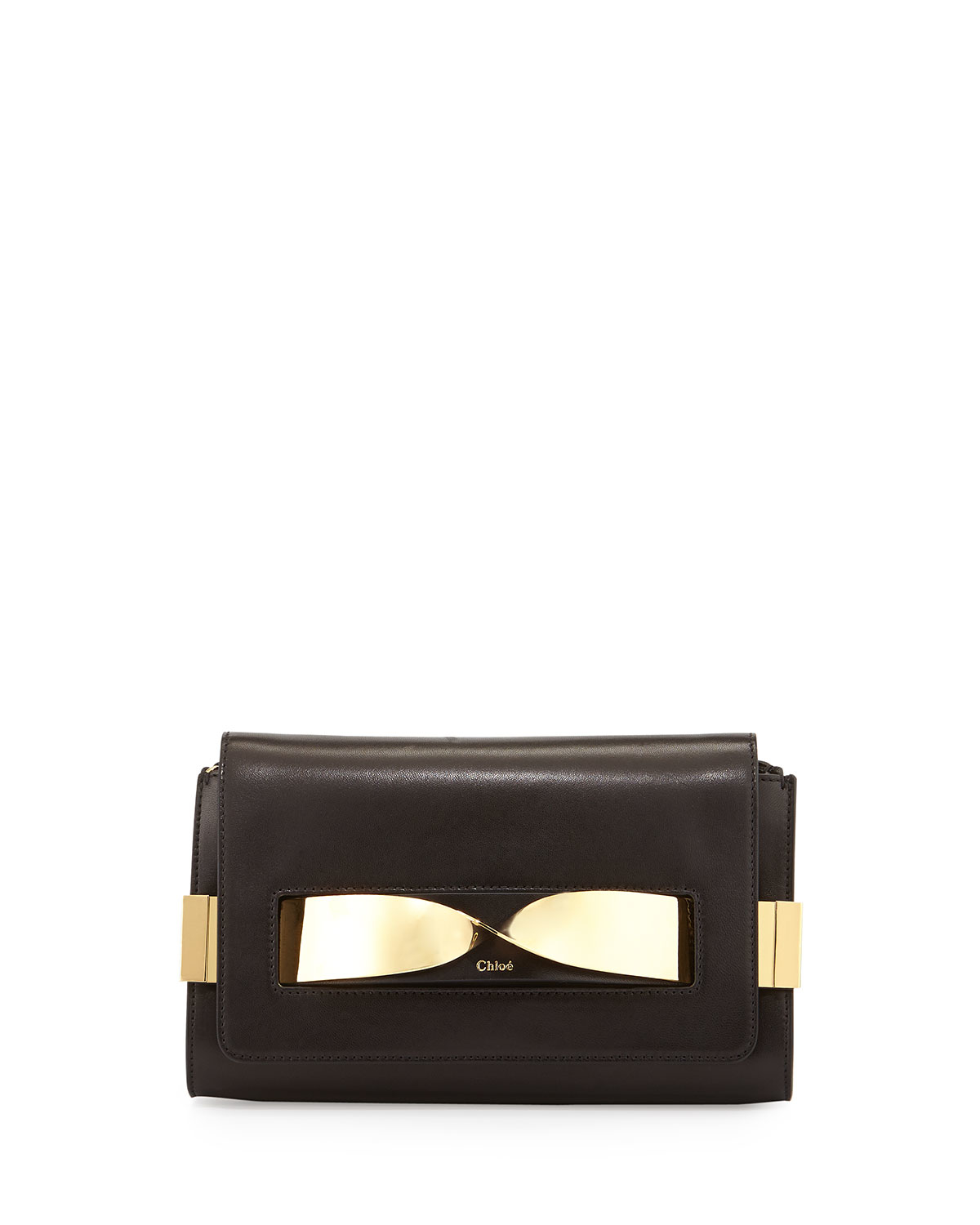 Chlo�� Elle Medium Chain Clutch Bag in Black | Lyst