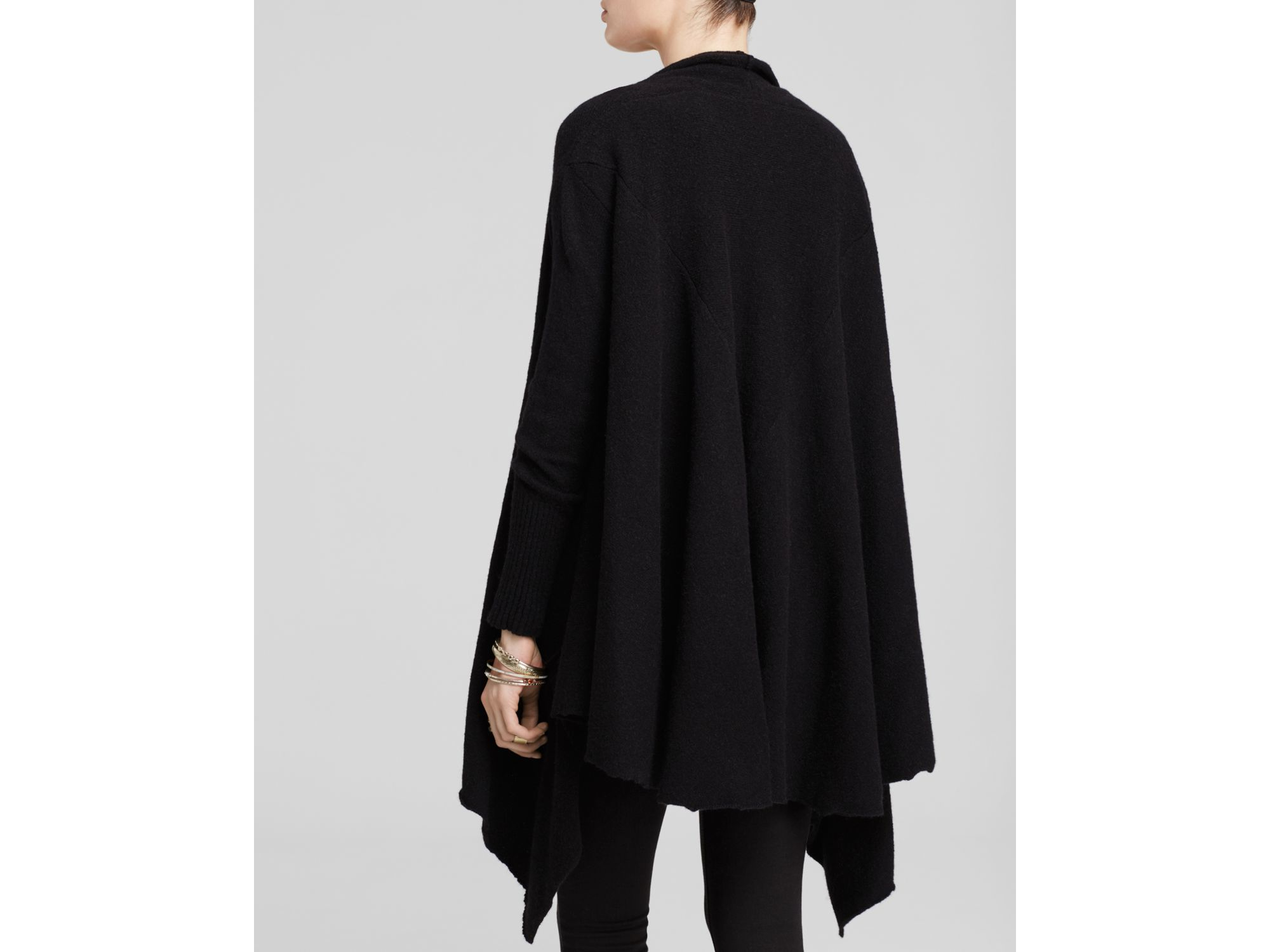 Free people Waterfall Cardigan in Black | Lyst