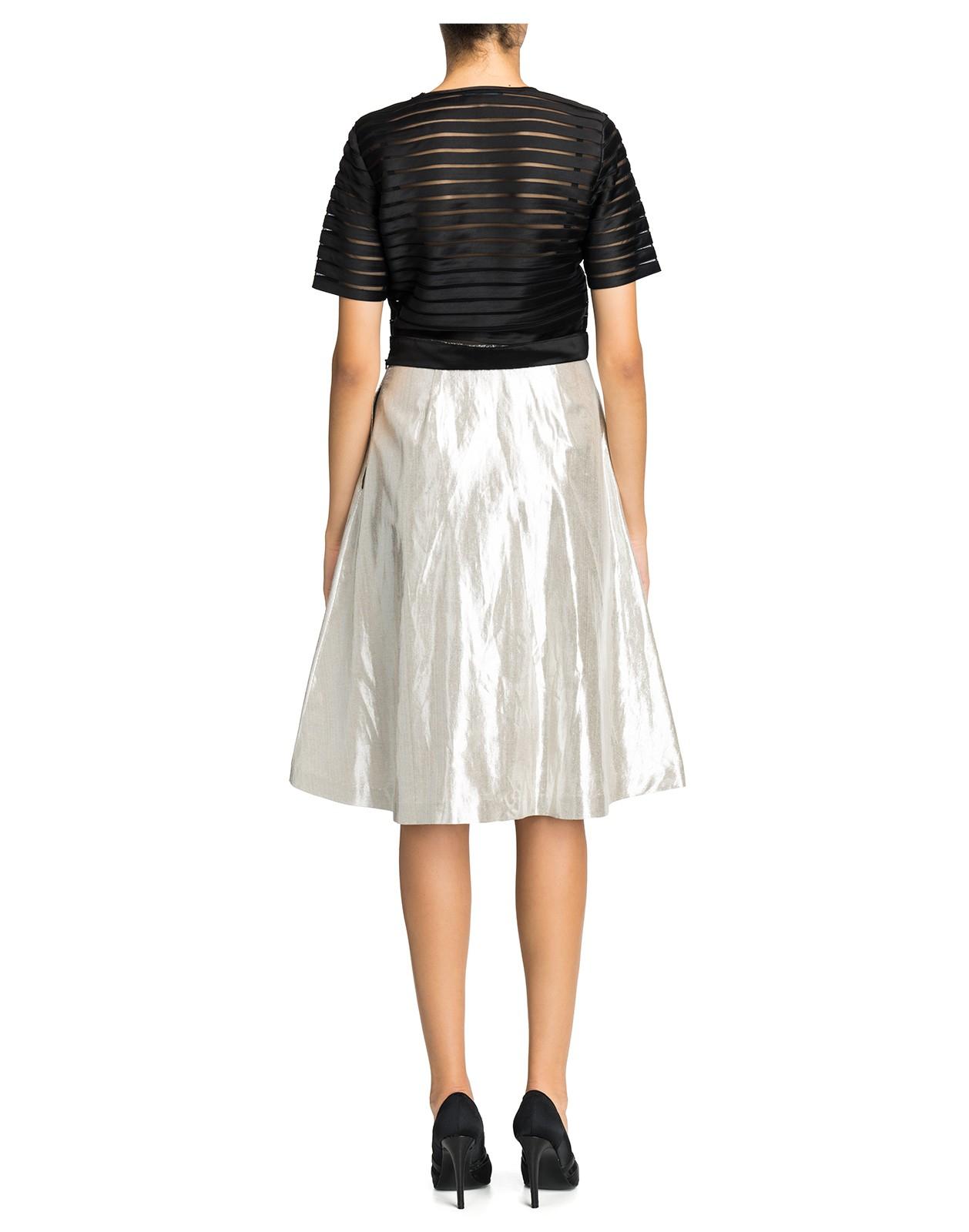 cynthia rowley metallic a line skirt in metallic lyst