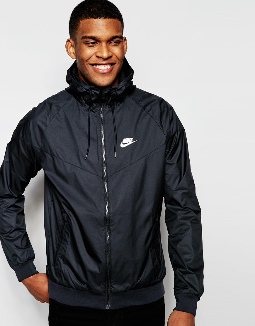 16cb3b33b5 ... buying cheap 5b218 22043 Nike Windbreaker Jacket 727324-010 in Black  for Men - Lyst ...