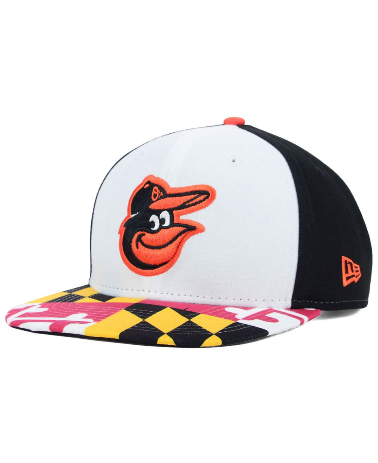 Lyst - KTZ Baltimore Orioles Flag Up 9Fifty Snapback Cap in Black ... 99a64adca935