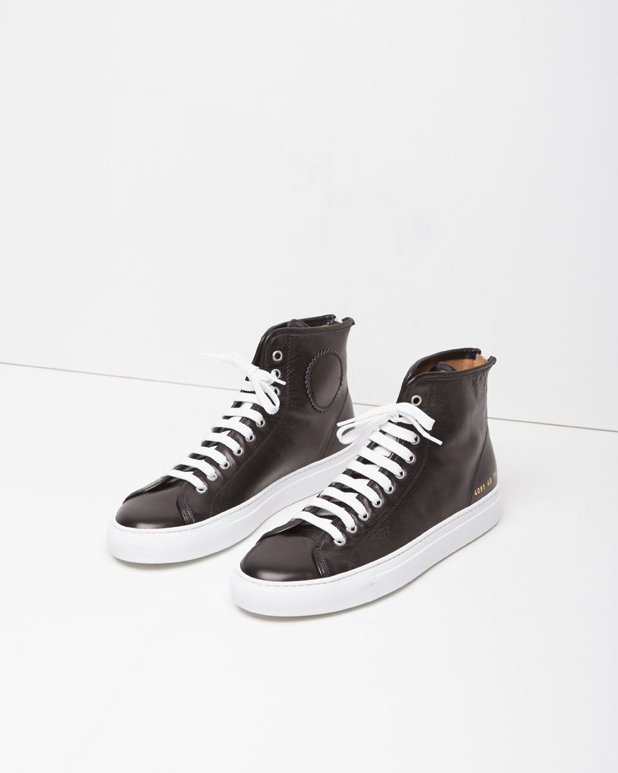 COMMON PROJECTS Tournament Leather hi top sneakers uMQqRKLbX