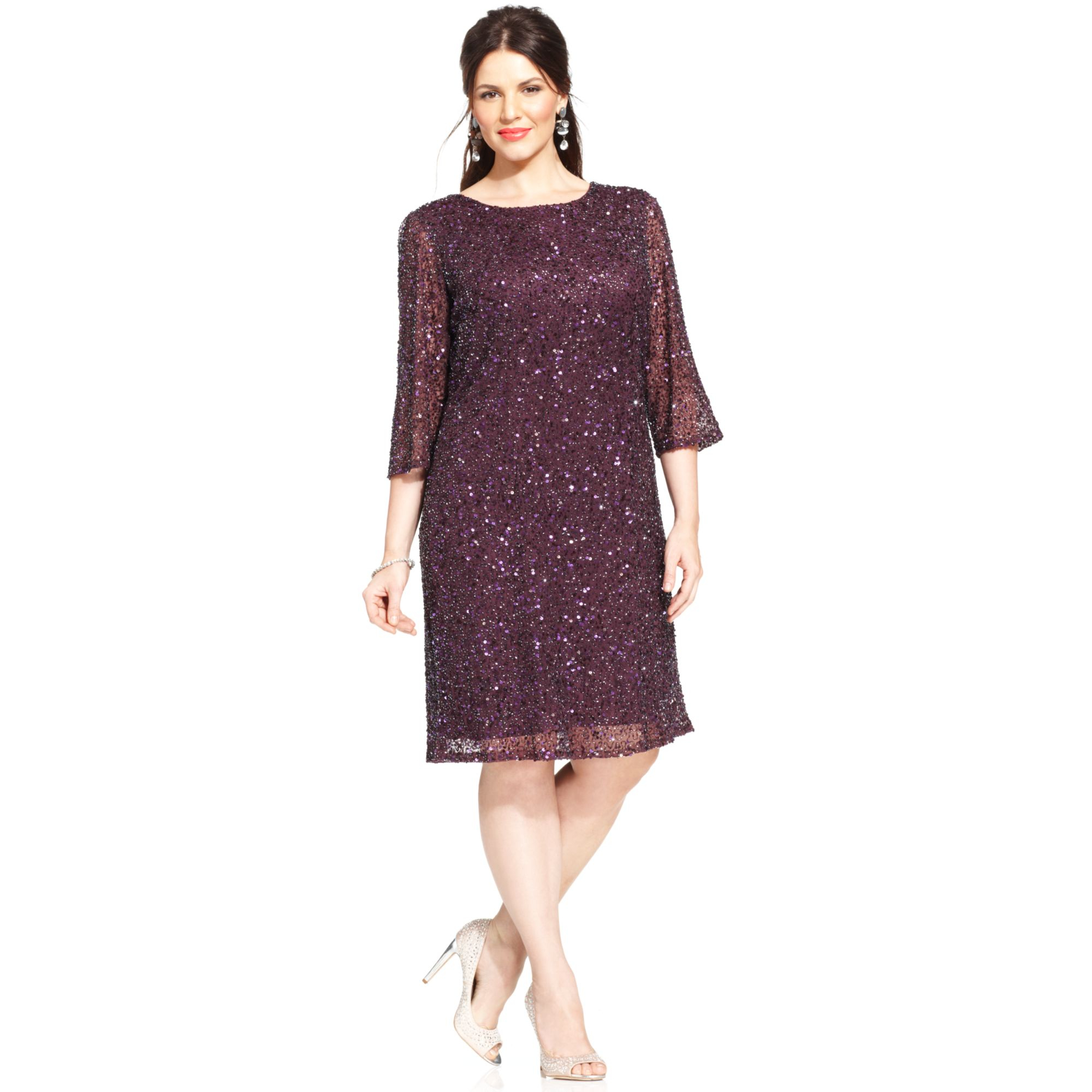 d48a3f72acf Pisarro Nights Beaded Mesh Dress Plus Size - Dress Foto and Picture