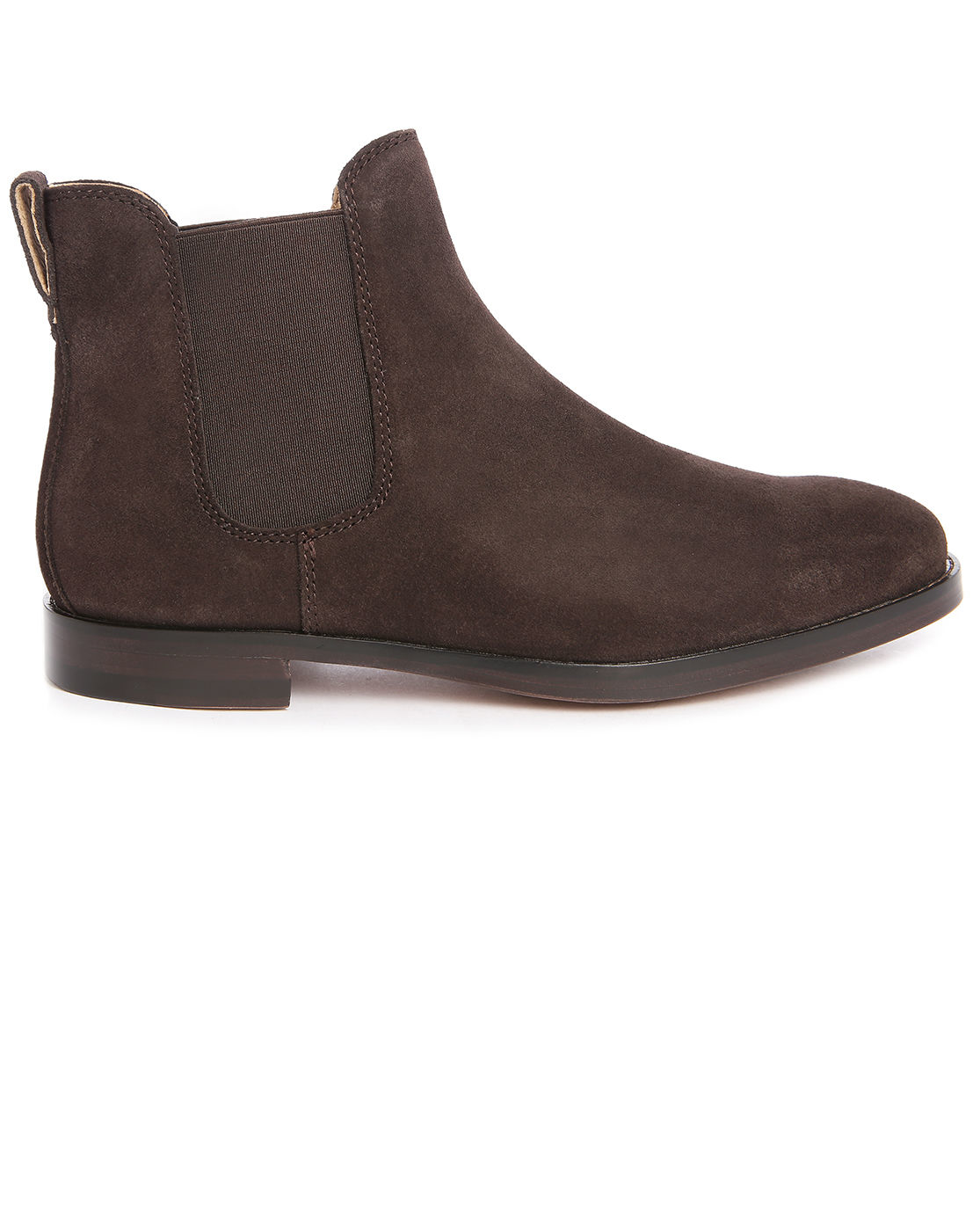 polo ralph dillian suede chelsea boots in brown for