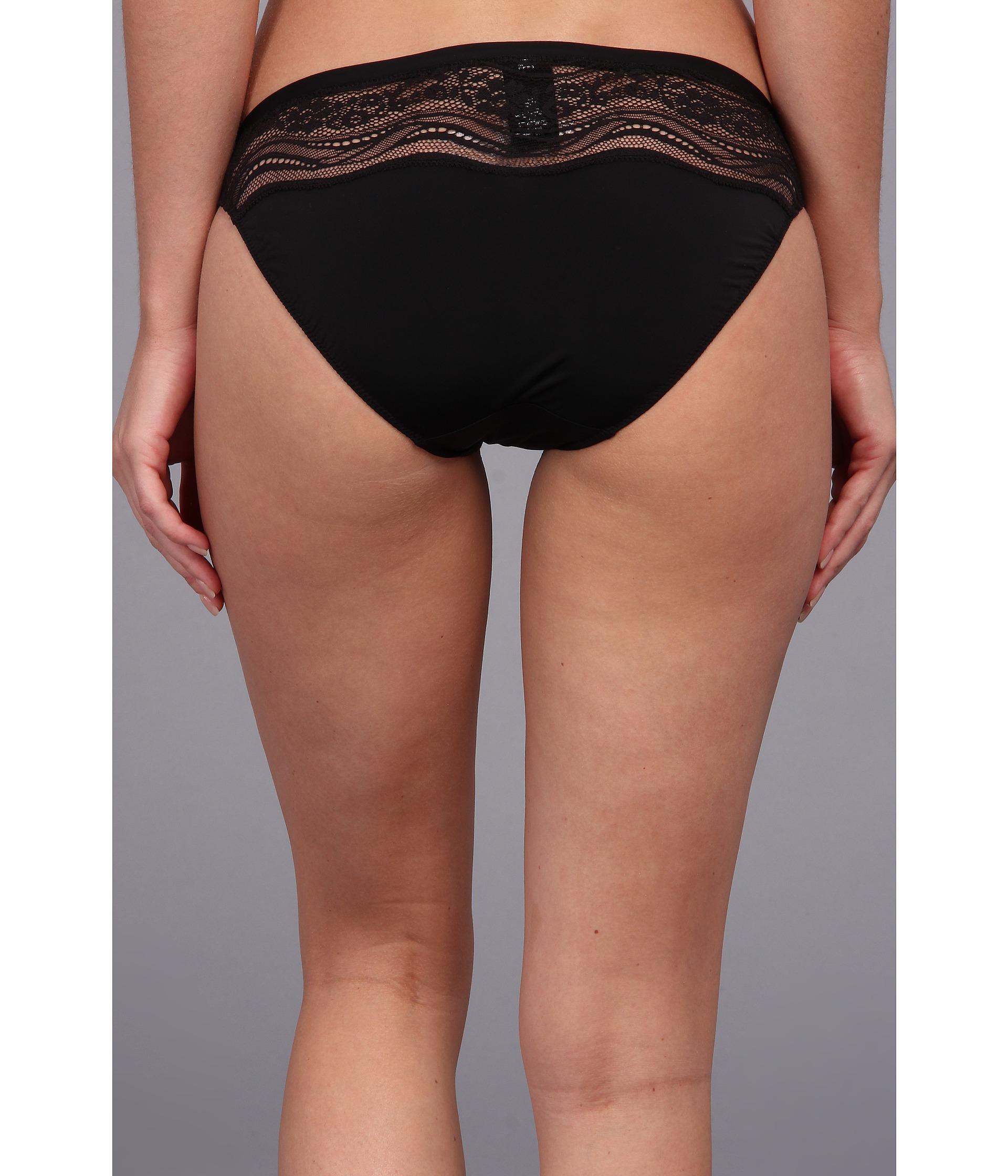 Calvin klein Infinite Lace Bikini Bottom in Black | Lyst