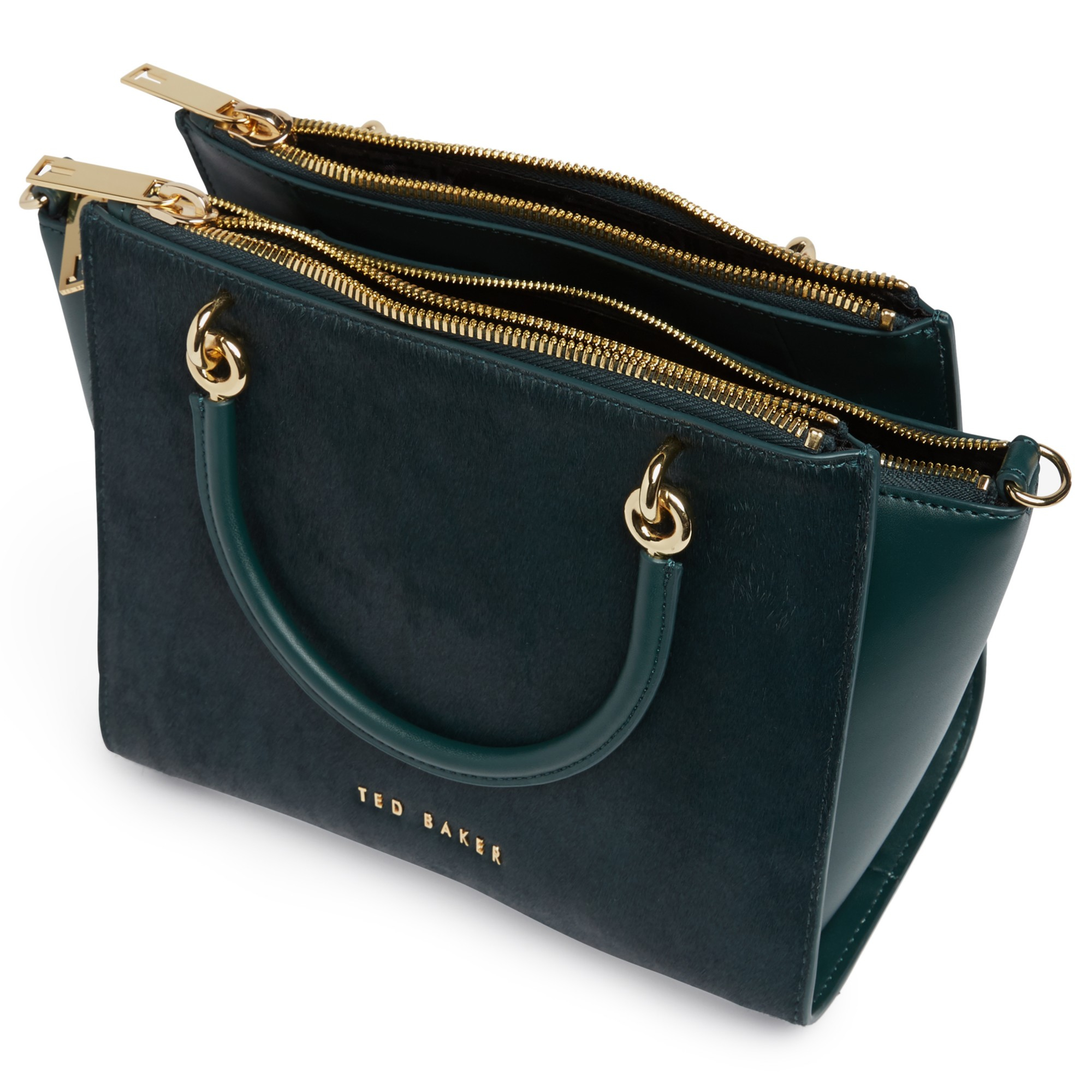 5e88fe015 Ted Baker Haylie Leather Crossbody Bag in Green - Lyst