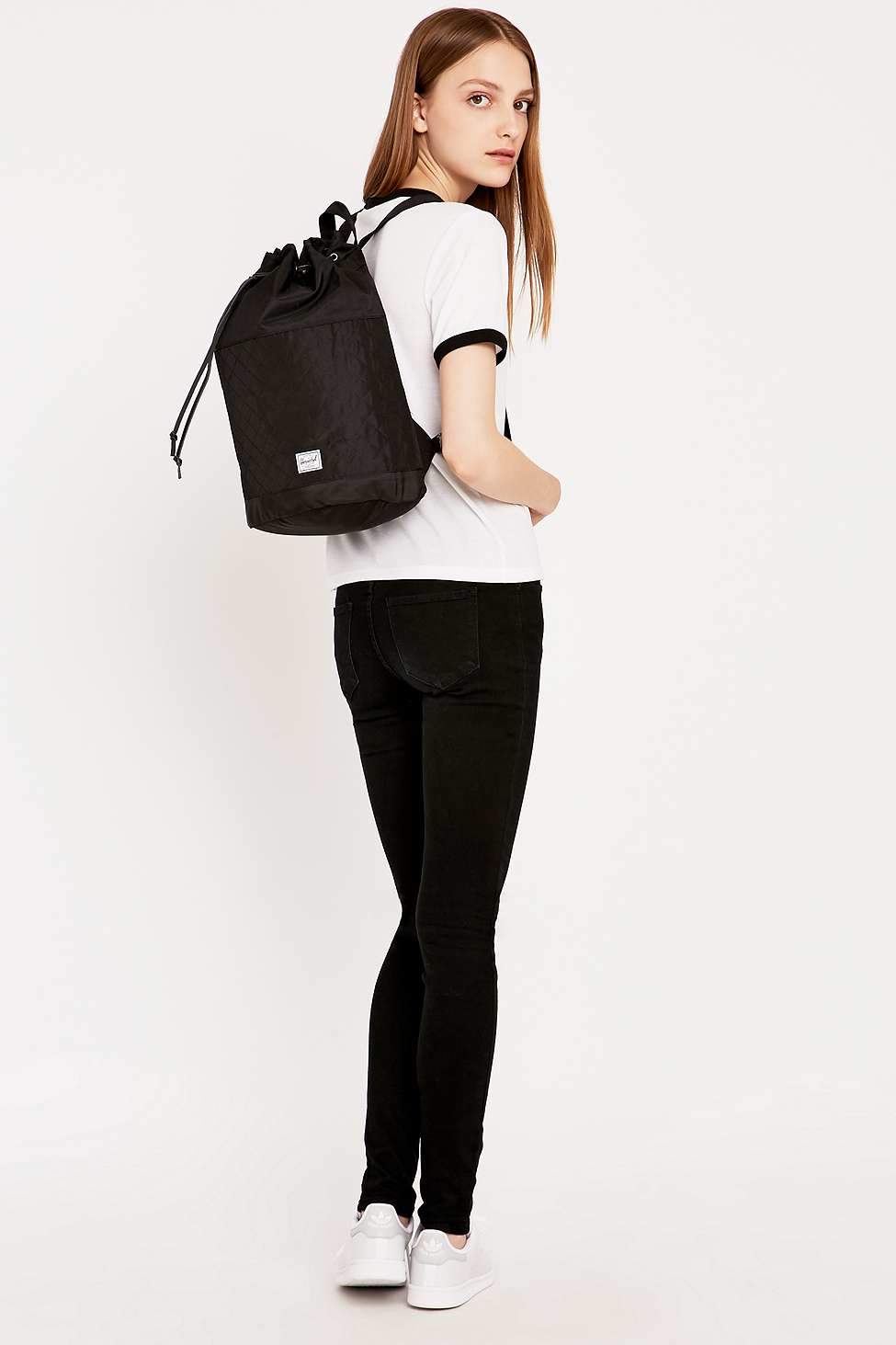 b51c7f51def Herschel Supply Co. Hanson Black Quilted Backpack in Black - Lyst